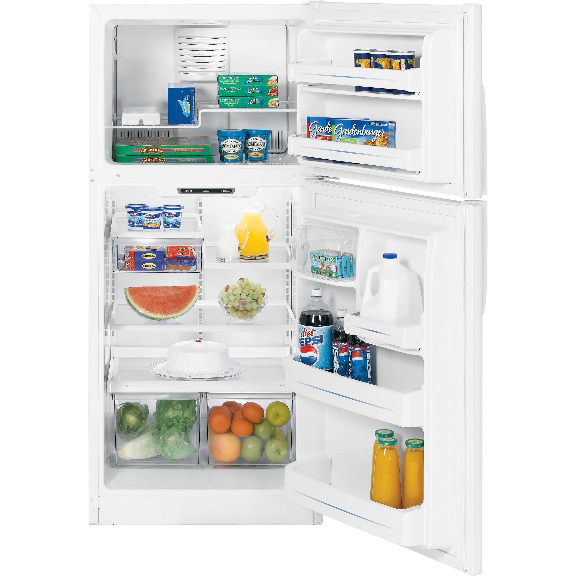 GE 18.0 cu. ft. Top-Freezer Refrigerator