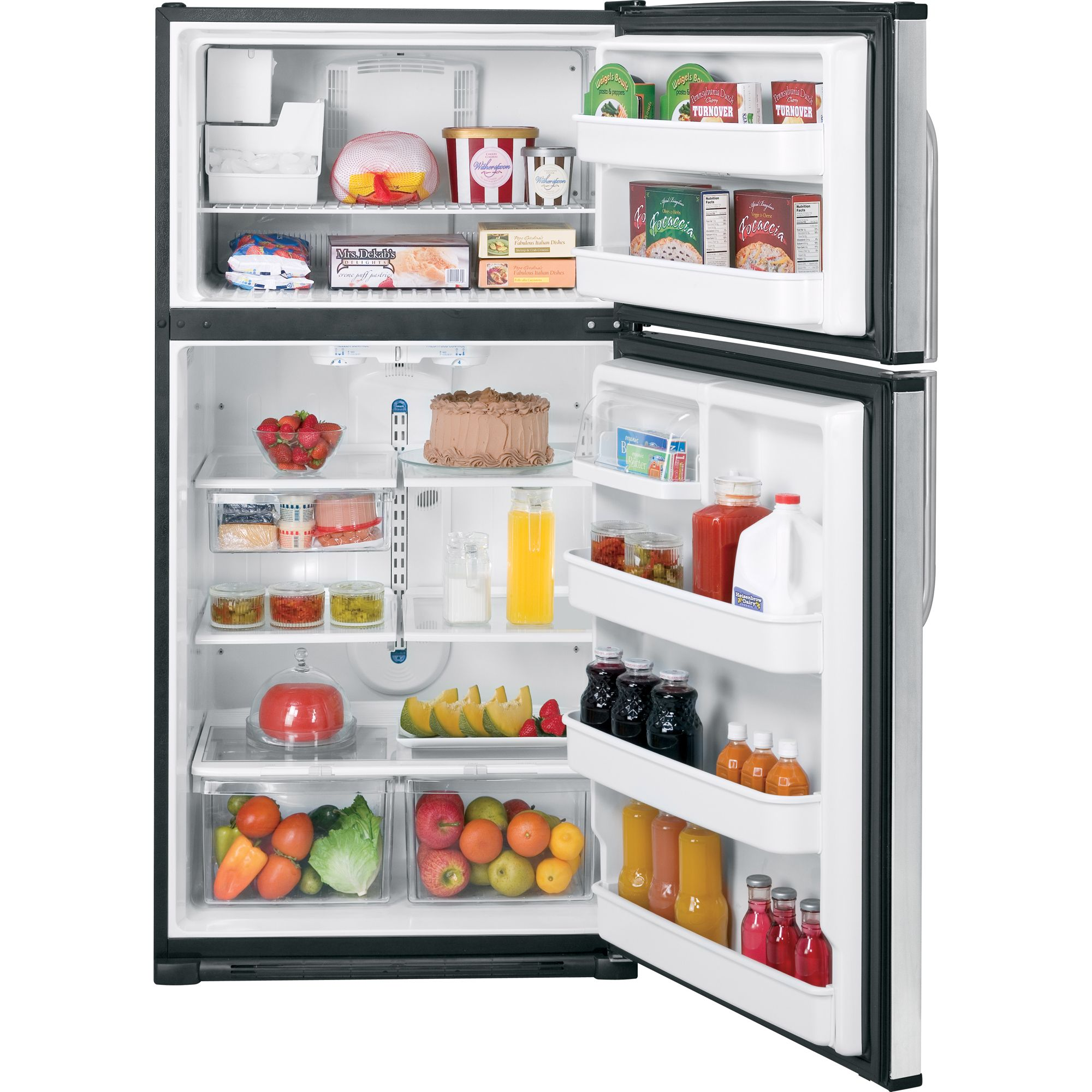 GE 21.0 cu. ft. Top Freezer Refrigerator (GTH21SCX)