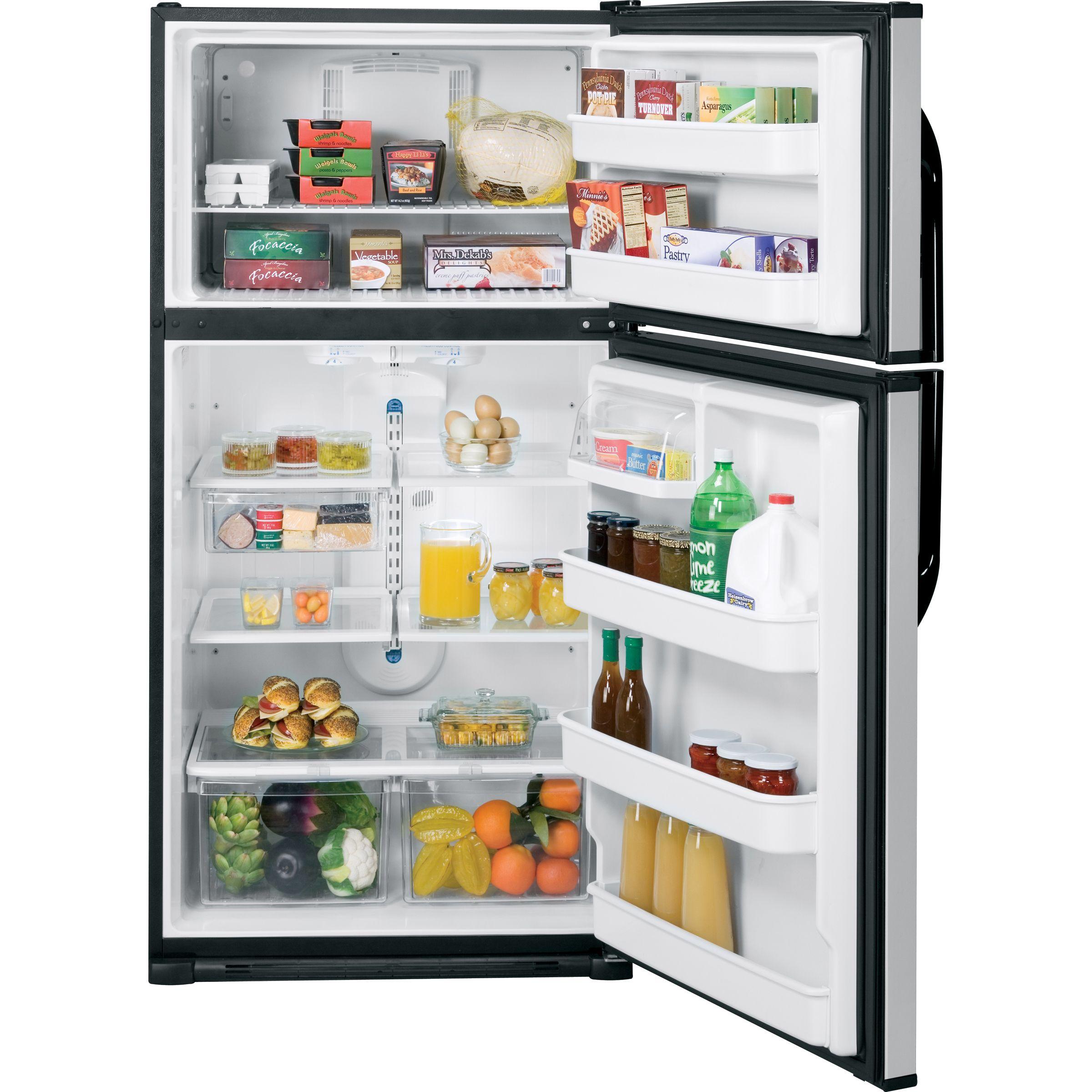 GE 21.0 cu. ft. Top Freezer Refrigerator (GTL21KBX)