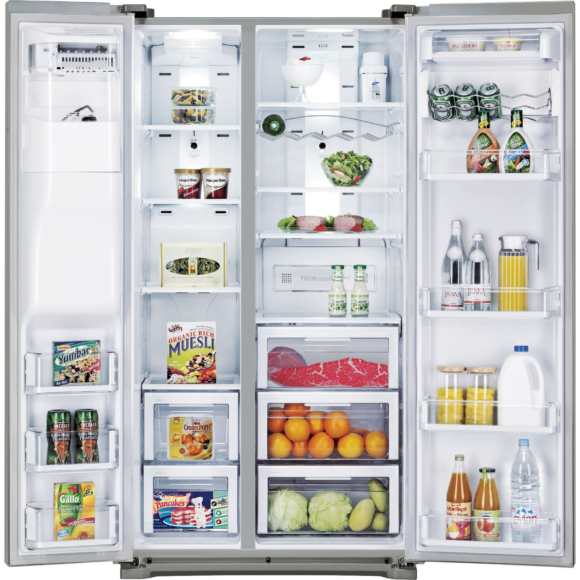 Samsung 24.1 cu. ft. Side-By-Side Refrigerator -Stainless Steel