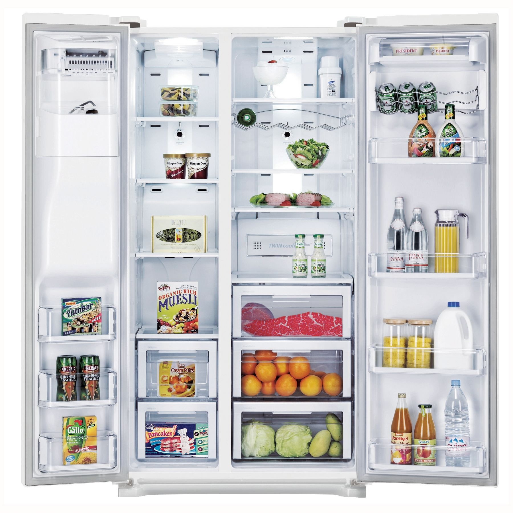 Samsung 24.1 cu. ft. Side-By-Side Refrigerator White
