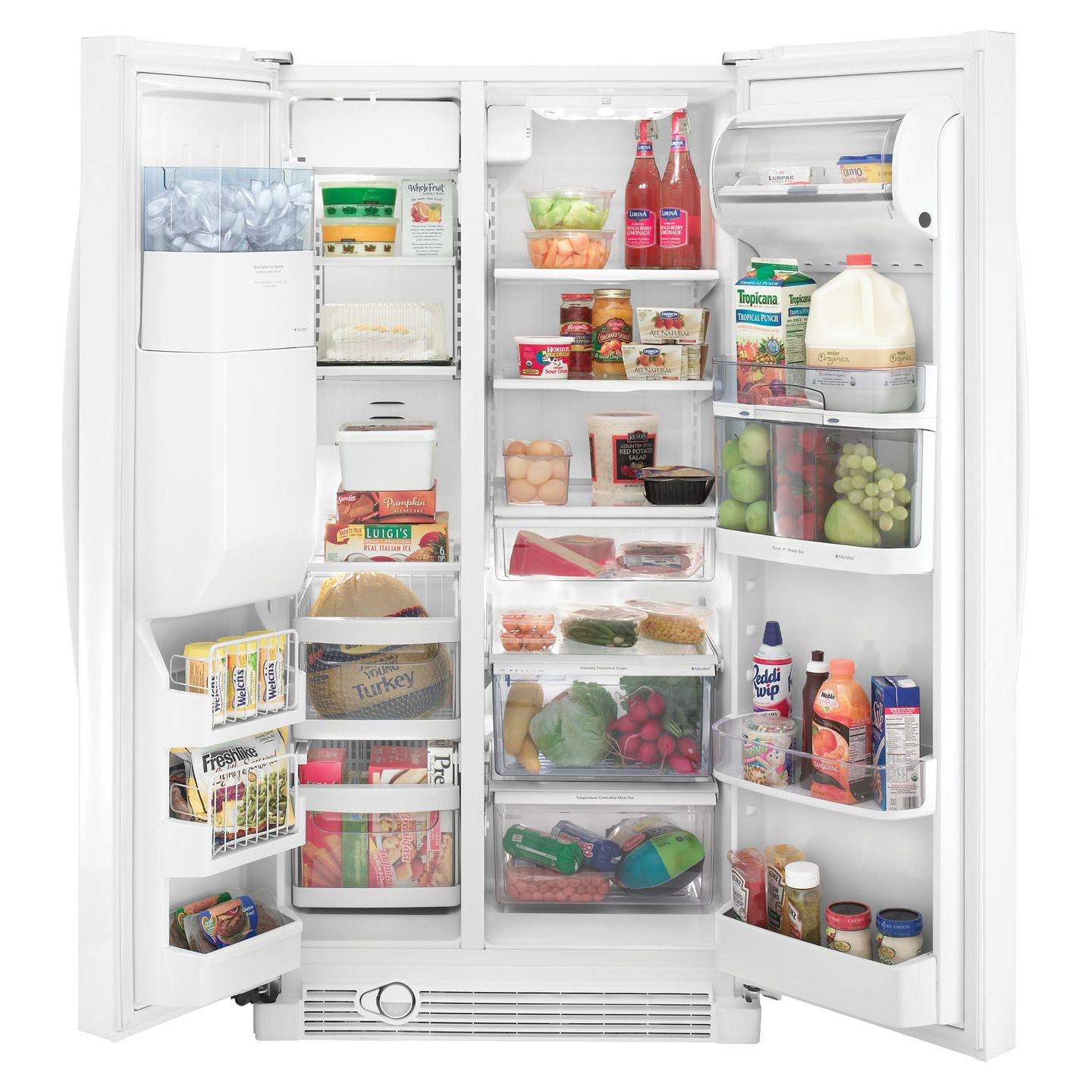 Kenmore Elite 25.6 cu. ft. Side-By-Side Refrigerator w/ Shaved Ice (5478)