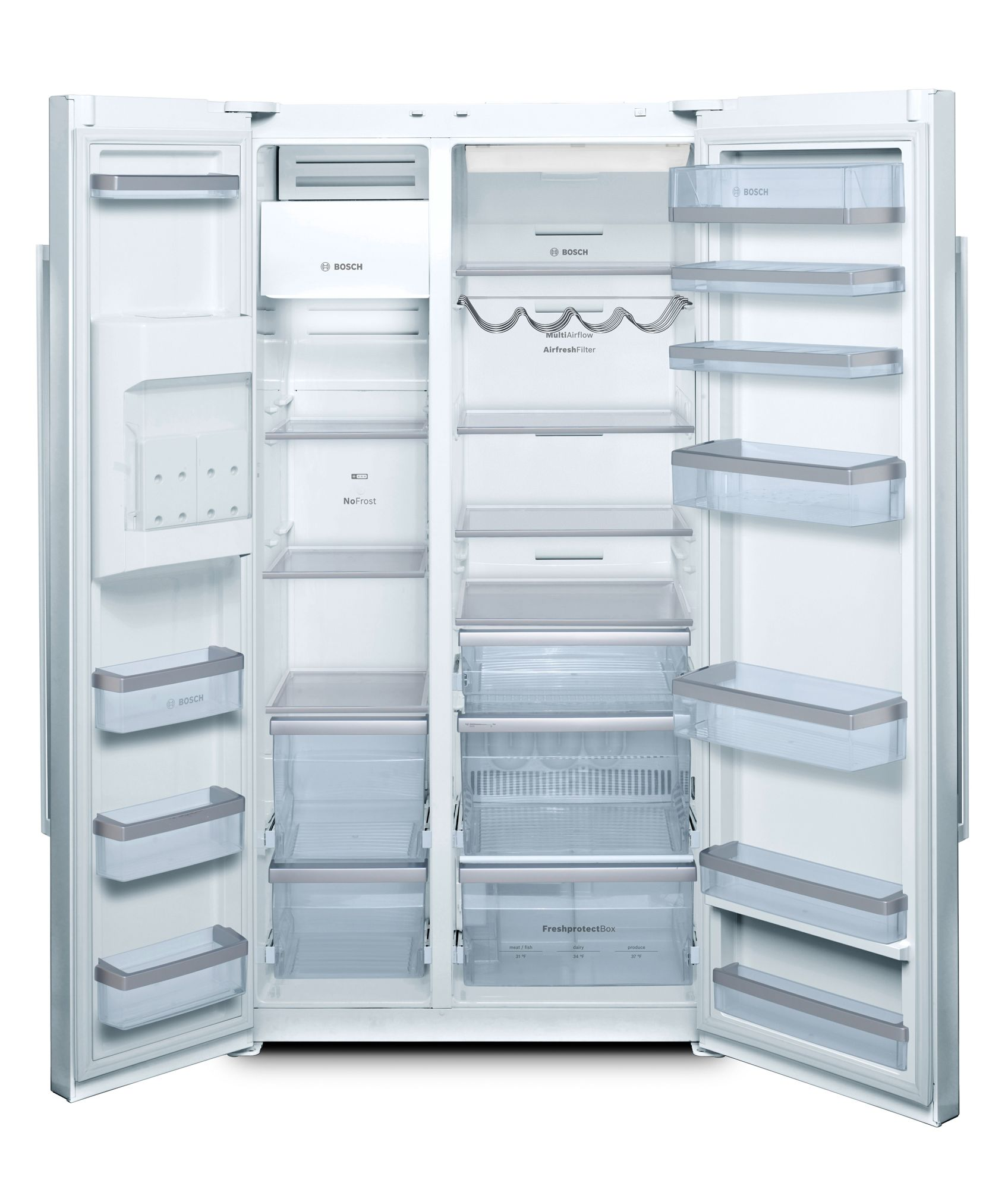 Bosch 21.7 cu. ft. Linea Counter-Depth Side-By-Side Refrigerator