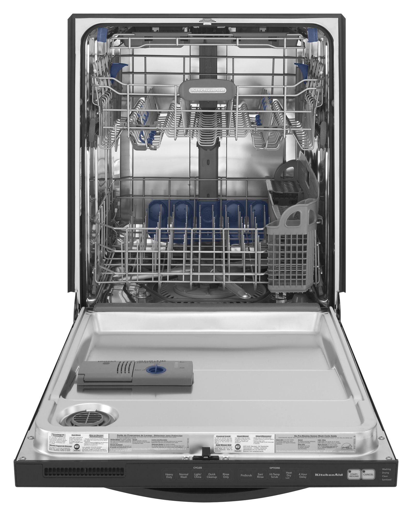 KitchenAid Superba® Series 24 in. Built-In Dishwasher with ProScrub® (KUDS50FV)