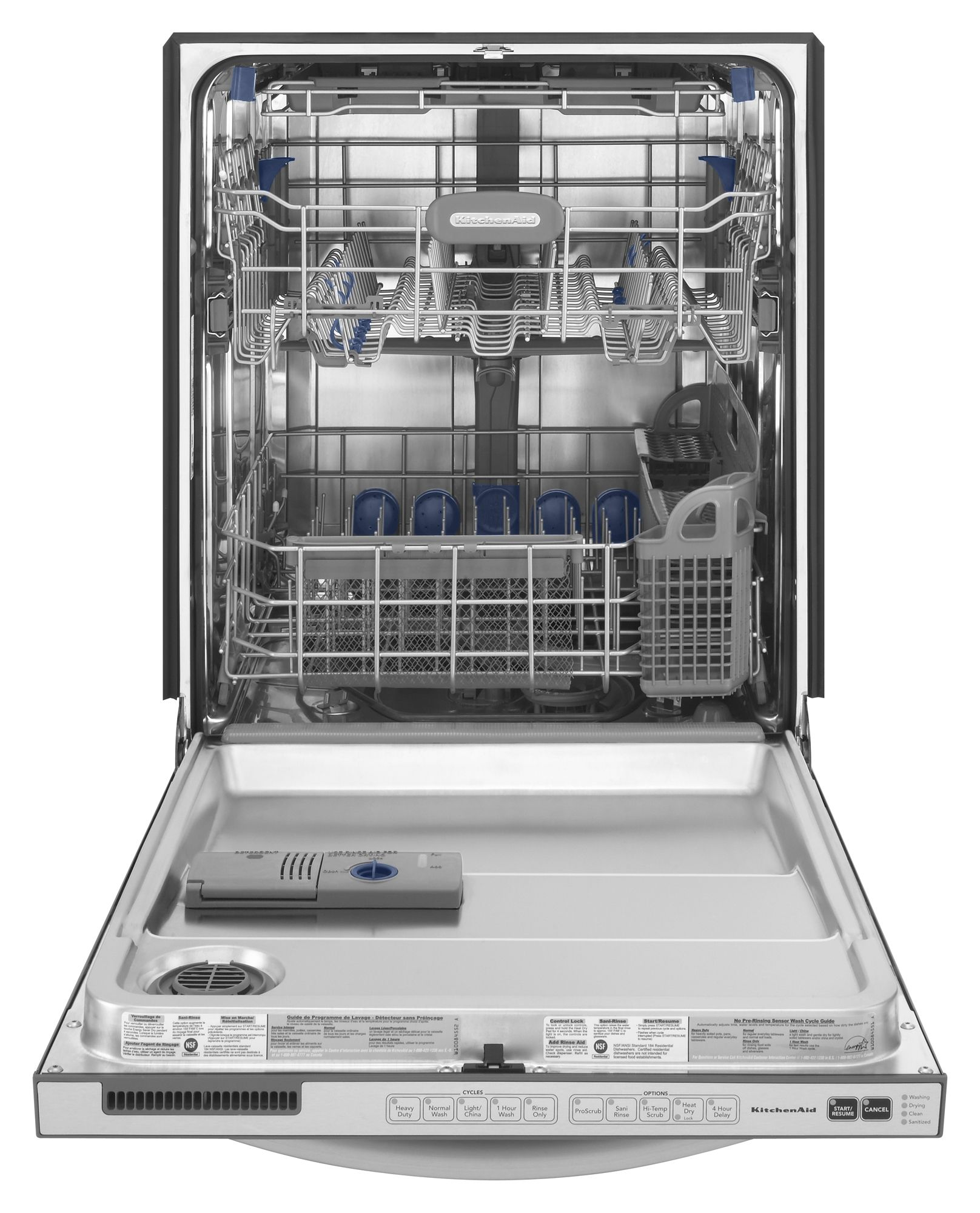 KitchenAid Superba® EQ Series 24 in. Built-In Dishwasher with Pro Scrub® (KUDE70FV)