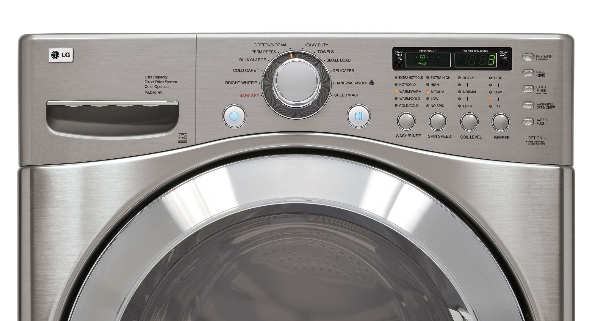 LG 3.9 cu. ft. Front-Load Washing Machine w/ TrueBalance&trade