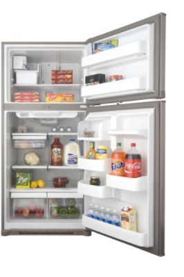 Kenmore 19.0 cu. ft. Top Freezer Refrigerator - Stainless Steel Look