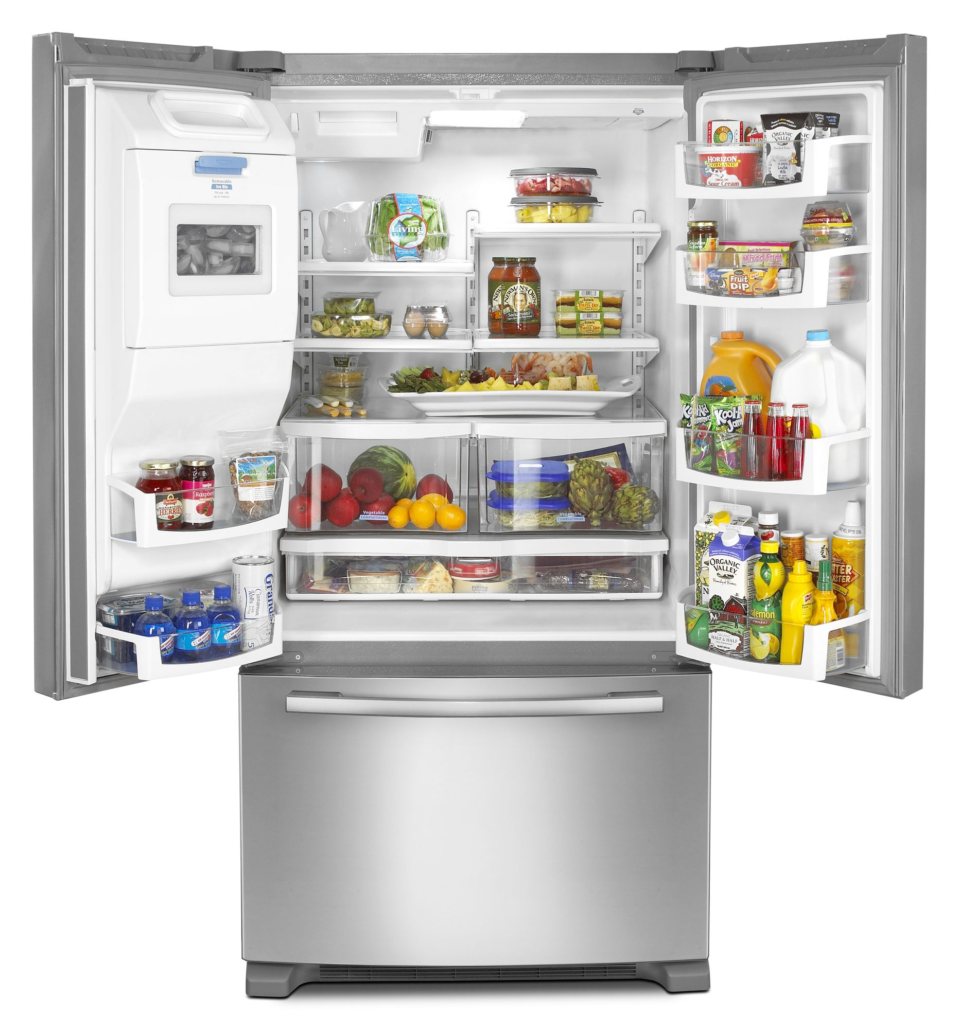 Whirlpool 26.6 cu. ft. French-Door Bottom Freezer Refrigerator w/ Ice & Water Dispenser (GI7FVCXW)