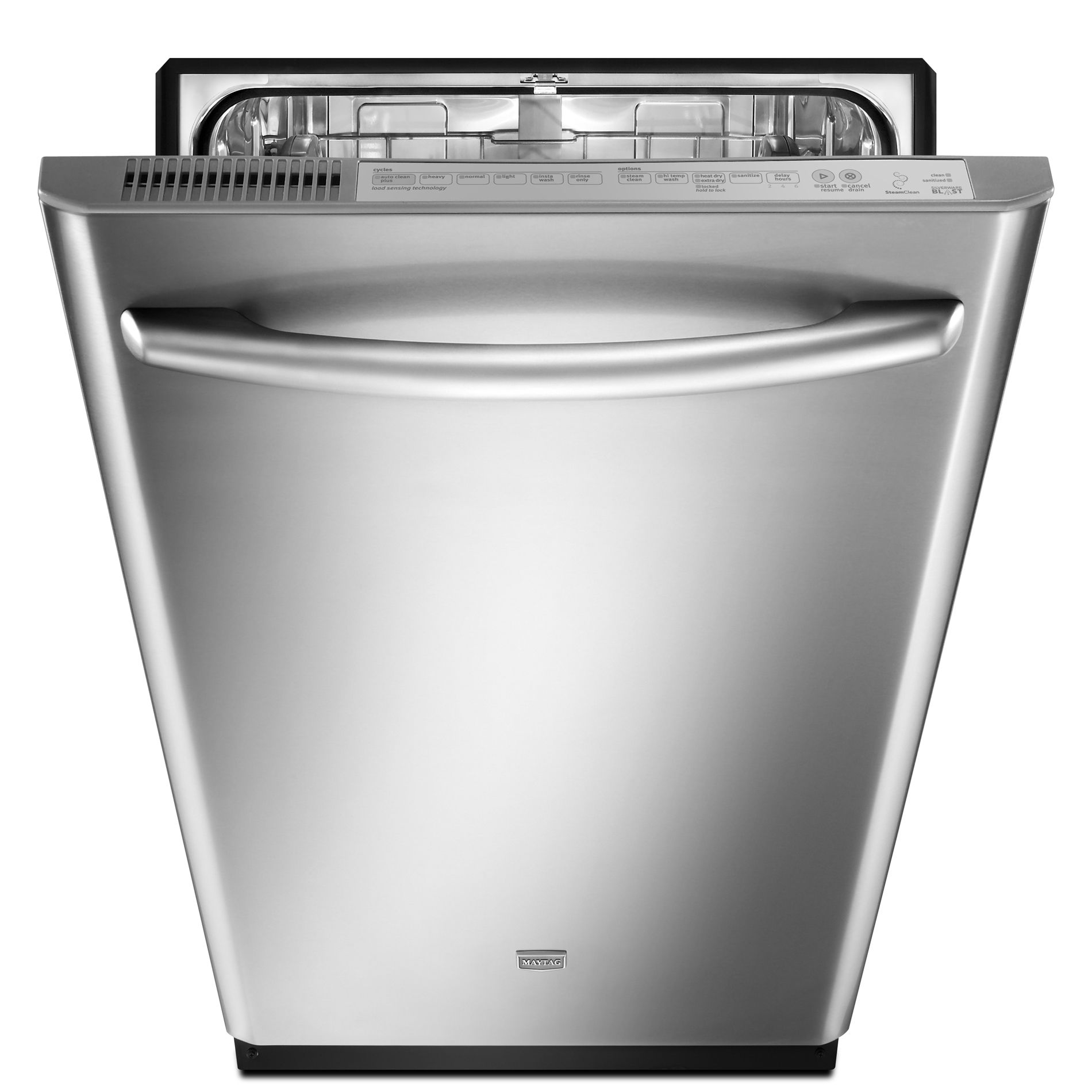 Maytag JetClean® Plus 24 in. Built-In Dishwasher with Fully Integrated Door - Stainless Steel