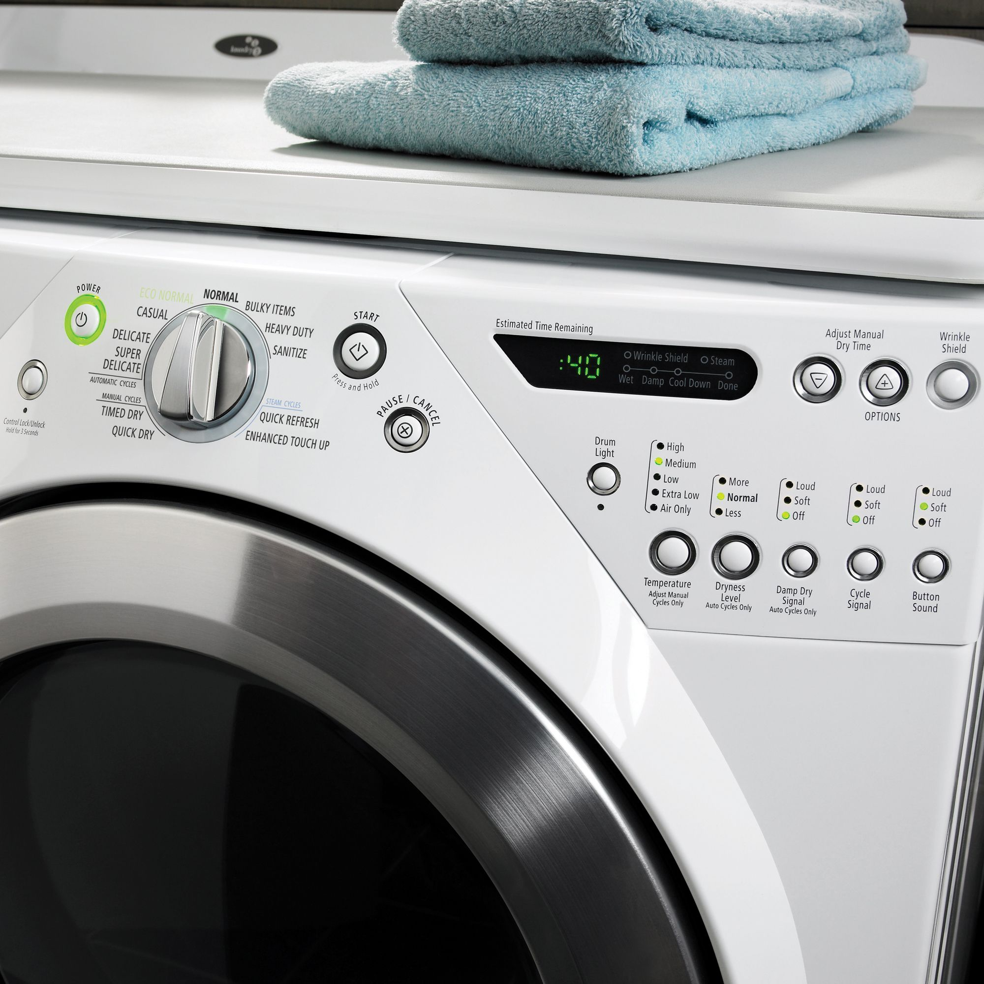 Whirlpool 7.2 cu. ft.  Duet® Steam Electric Dryer - White