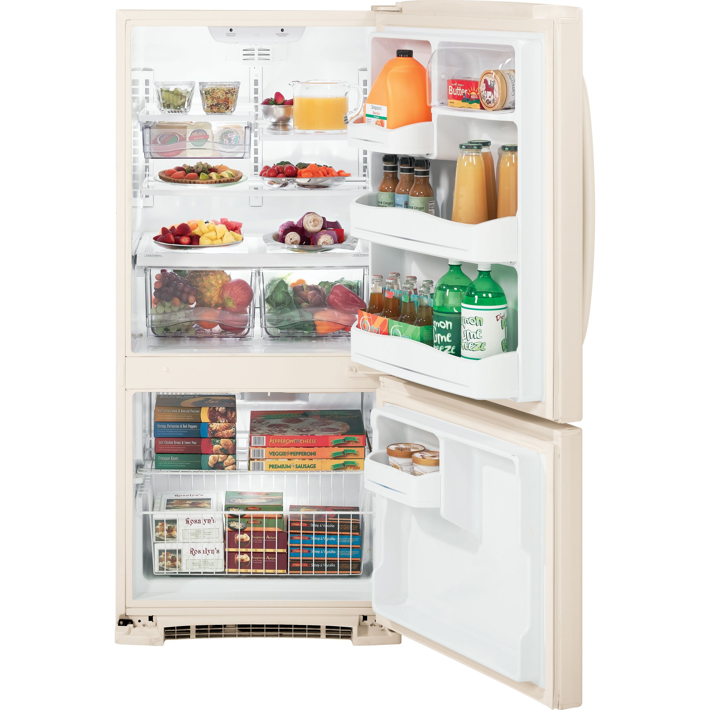 GE 20.3 cu. ft. Bottom Freezer Refrigerator (GBSC0HBX)