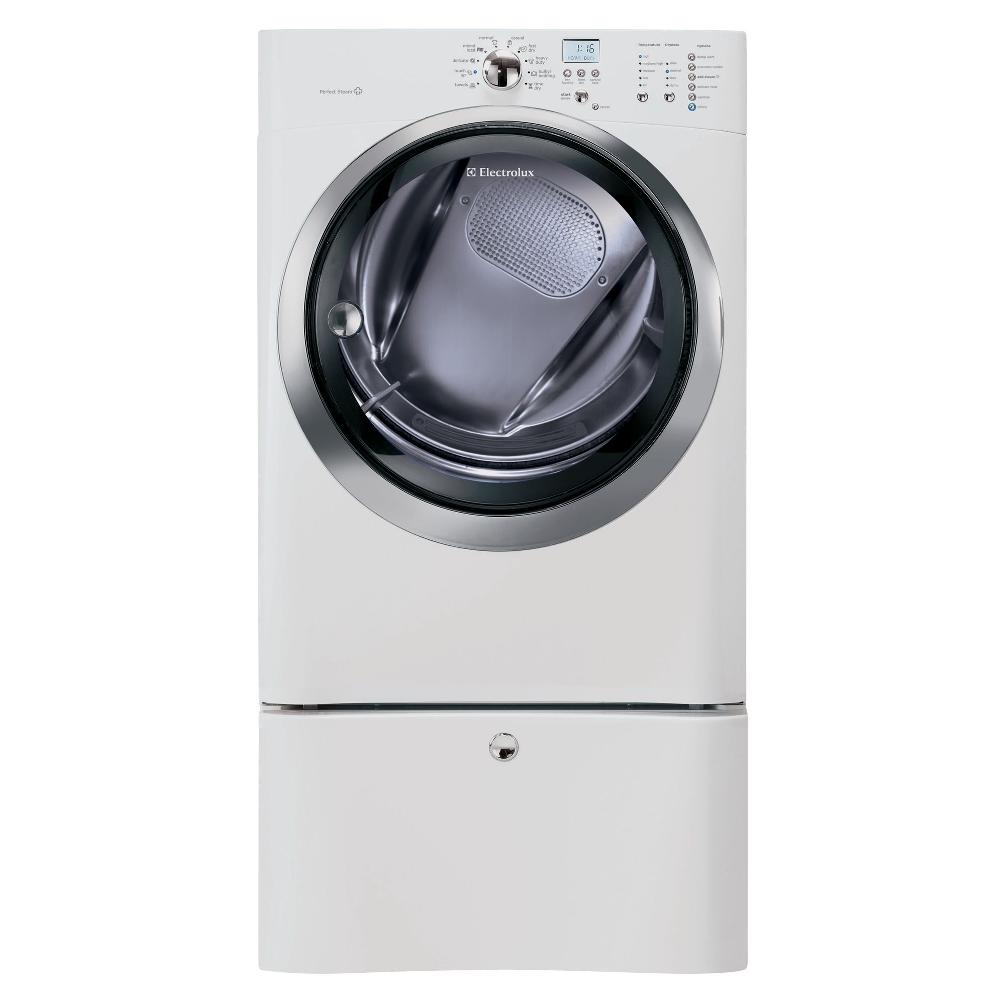 Electrolux EIMED55IIW IQ-Touch 8.0 Cu. Ft. Island White Steam Electric Dryer