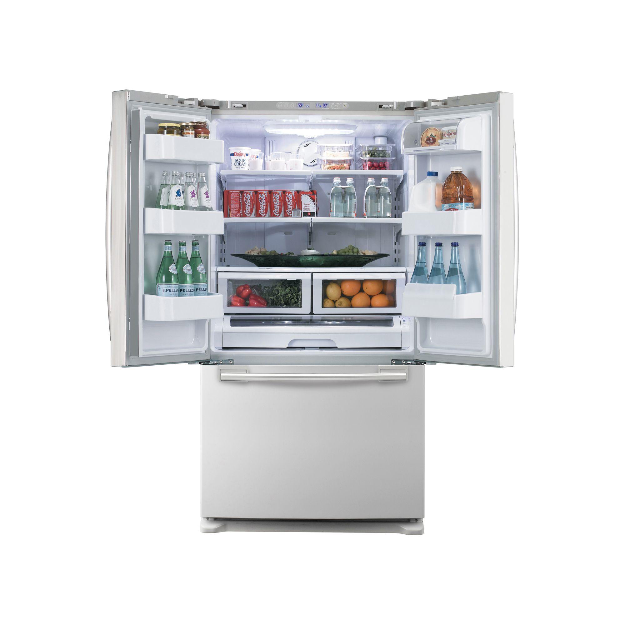 Samsung 26.0 cu. ft. French-Door Bottom Freezer Refrigerator, White (Model RF266AE)