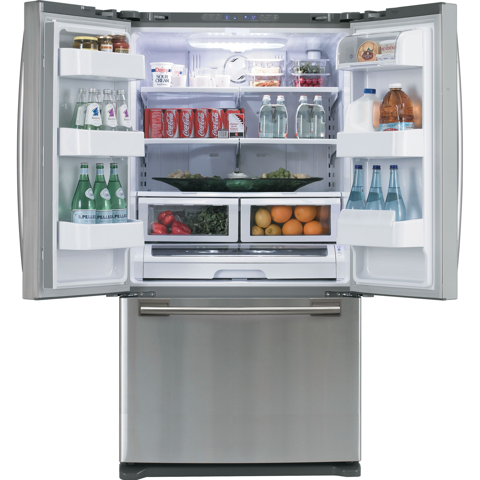 Samsung 26.0 cu. ft. French-Door Bottom Freezer Refrigerator, Stainless Steel (Model RF266AERS)