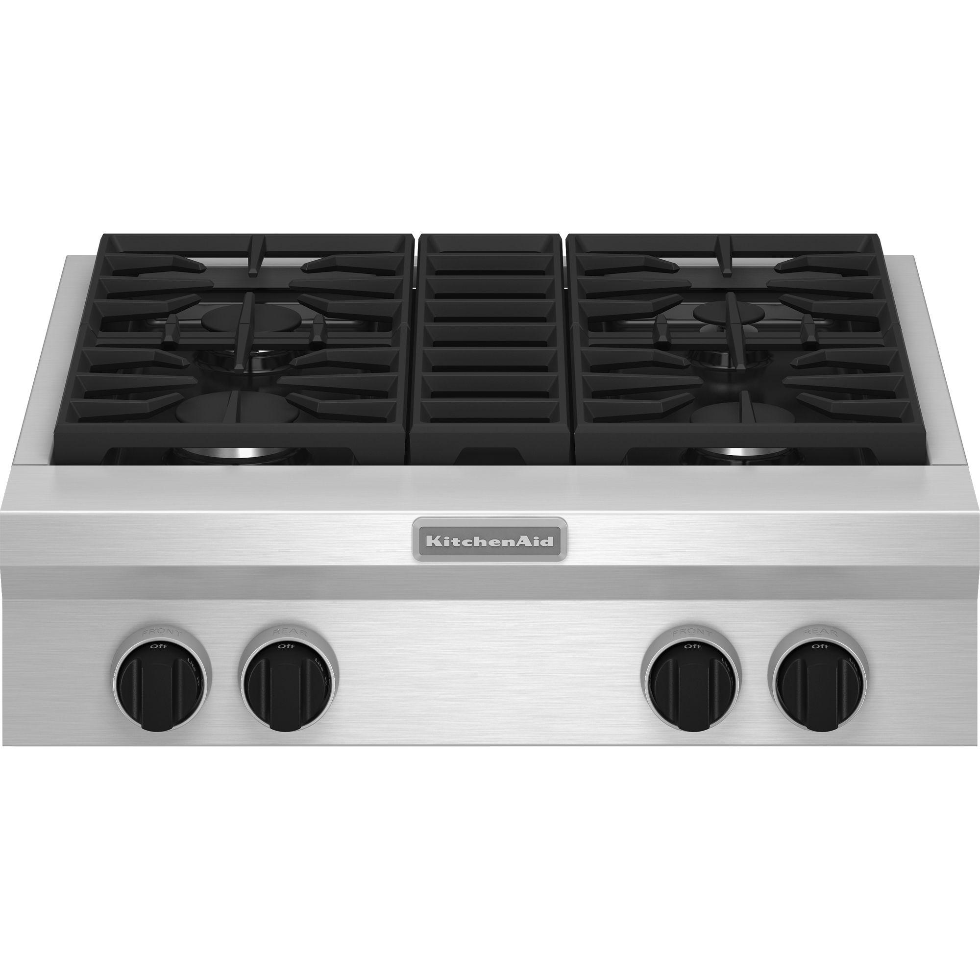 KGCU407VSS-Pro-Style-30-Gas-Cooktop