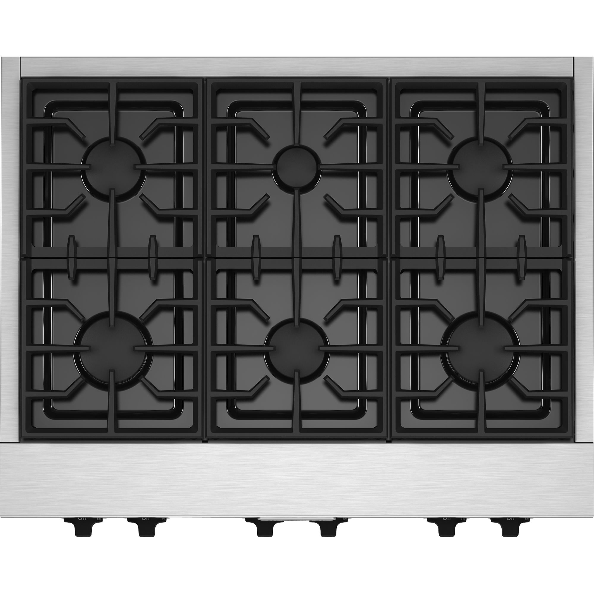 "KitchenAid KGCU467VSS Pro-Style® 36"" Gas Cooktop"