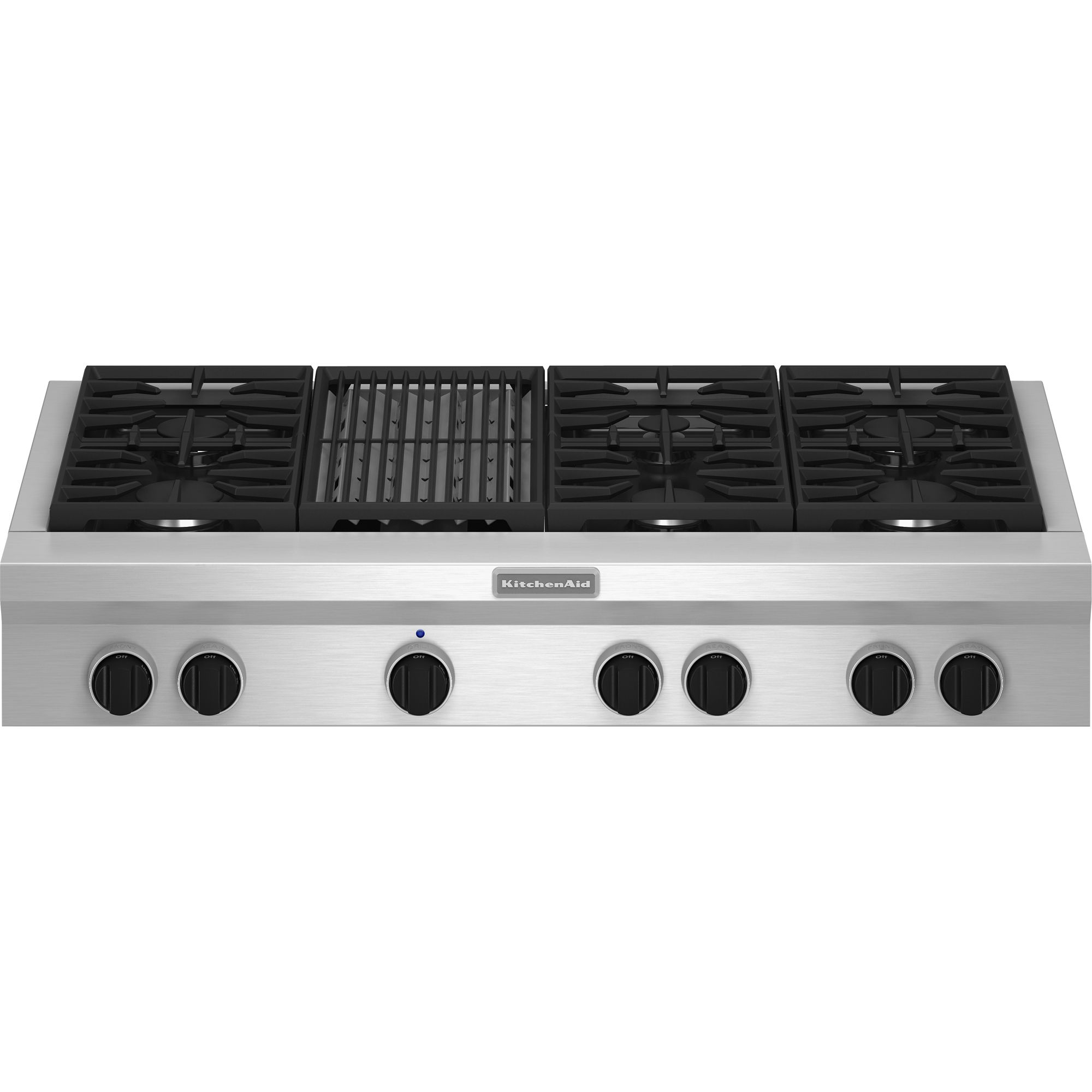 KitchenAid KGCU482VSS Pro-Style® 48 Gas Cooktop Plus Grill