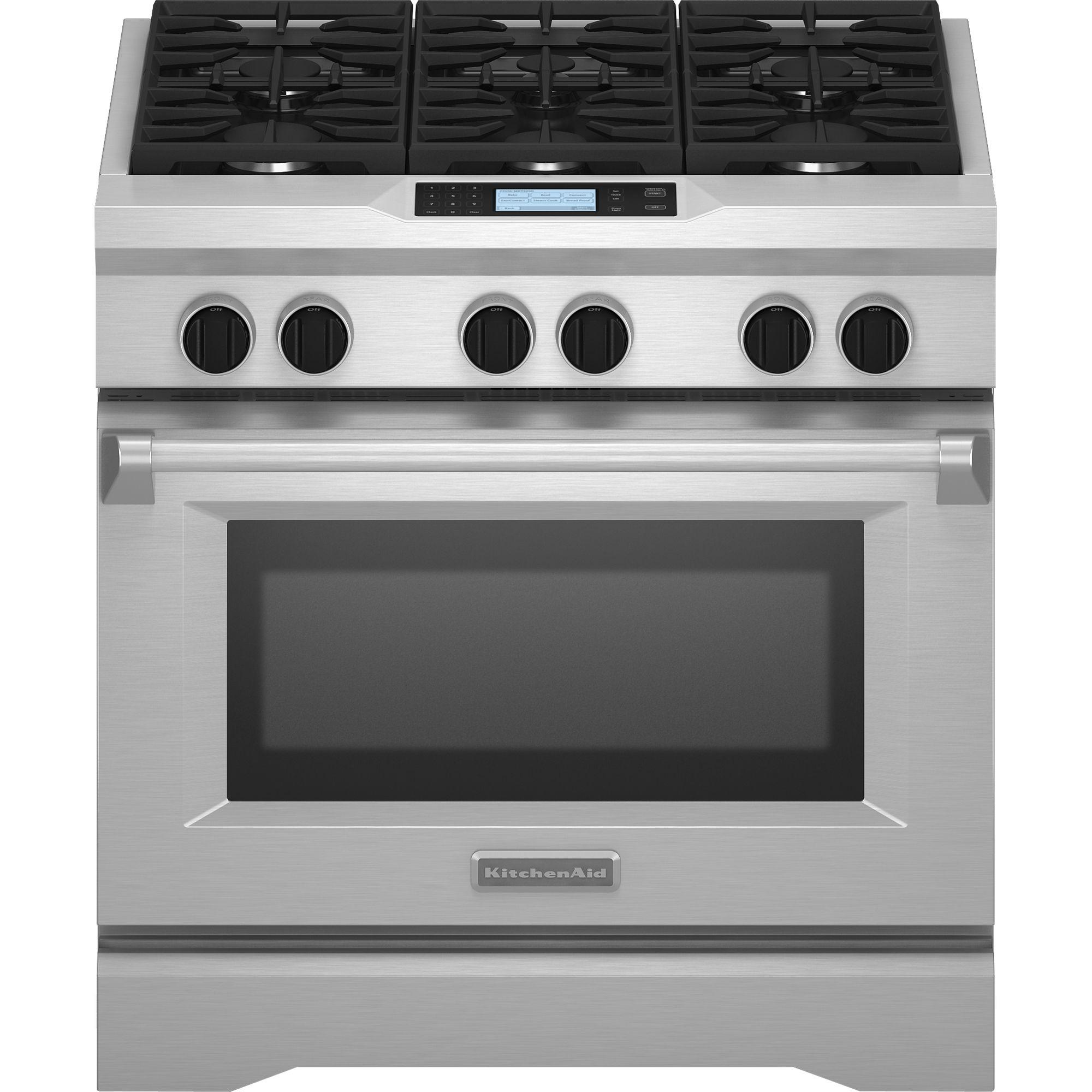 KitchenAid KDRU767VSS Pro-Style® 5.1 cu. ft. Dual Fuel Range - Stainless Steel
