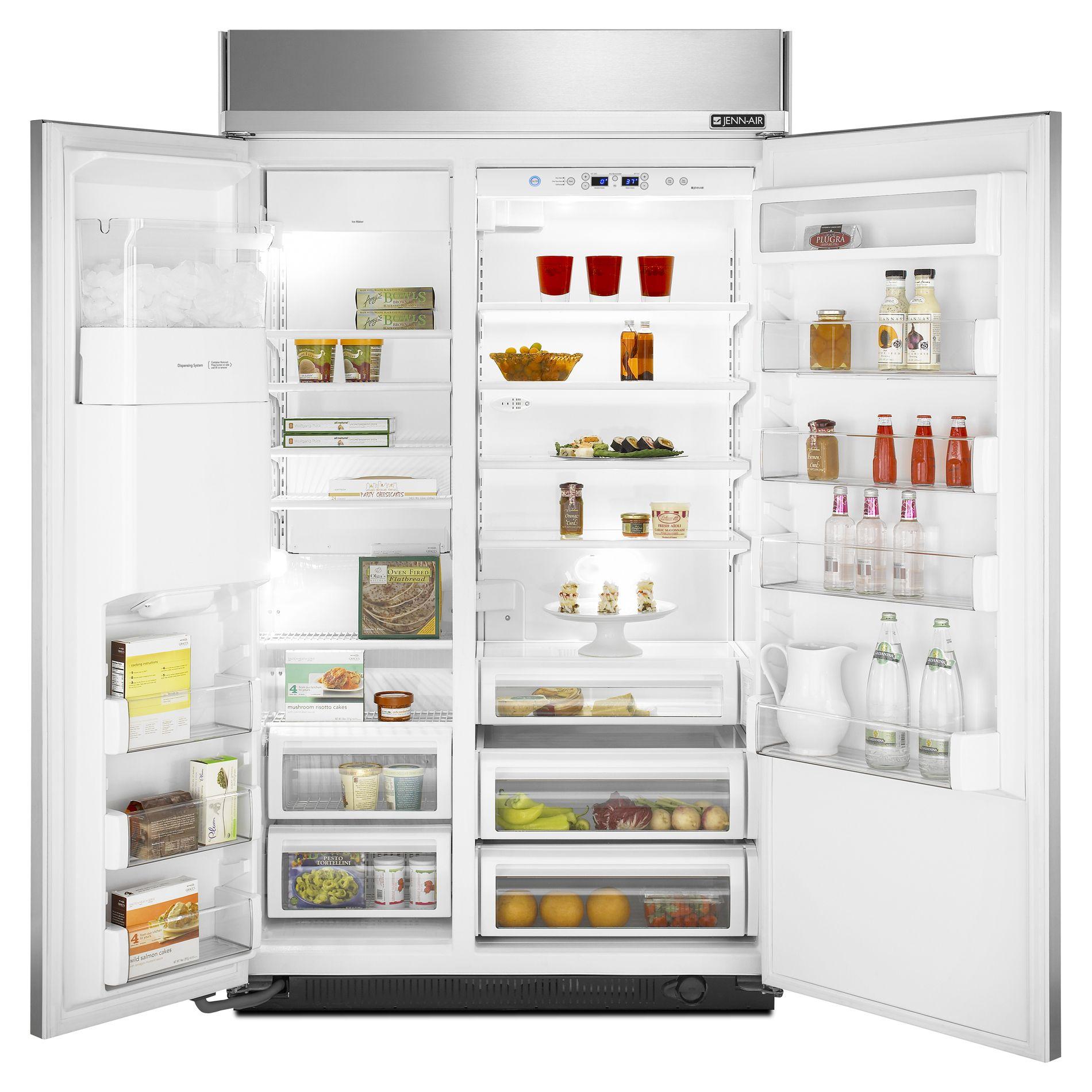 Jenn-Air 29.7 cu. ft. Built-In Side-By-Side Refrigerator w/ Dispenser