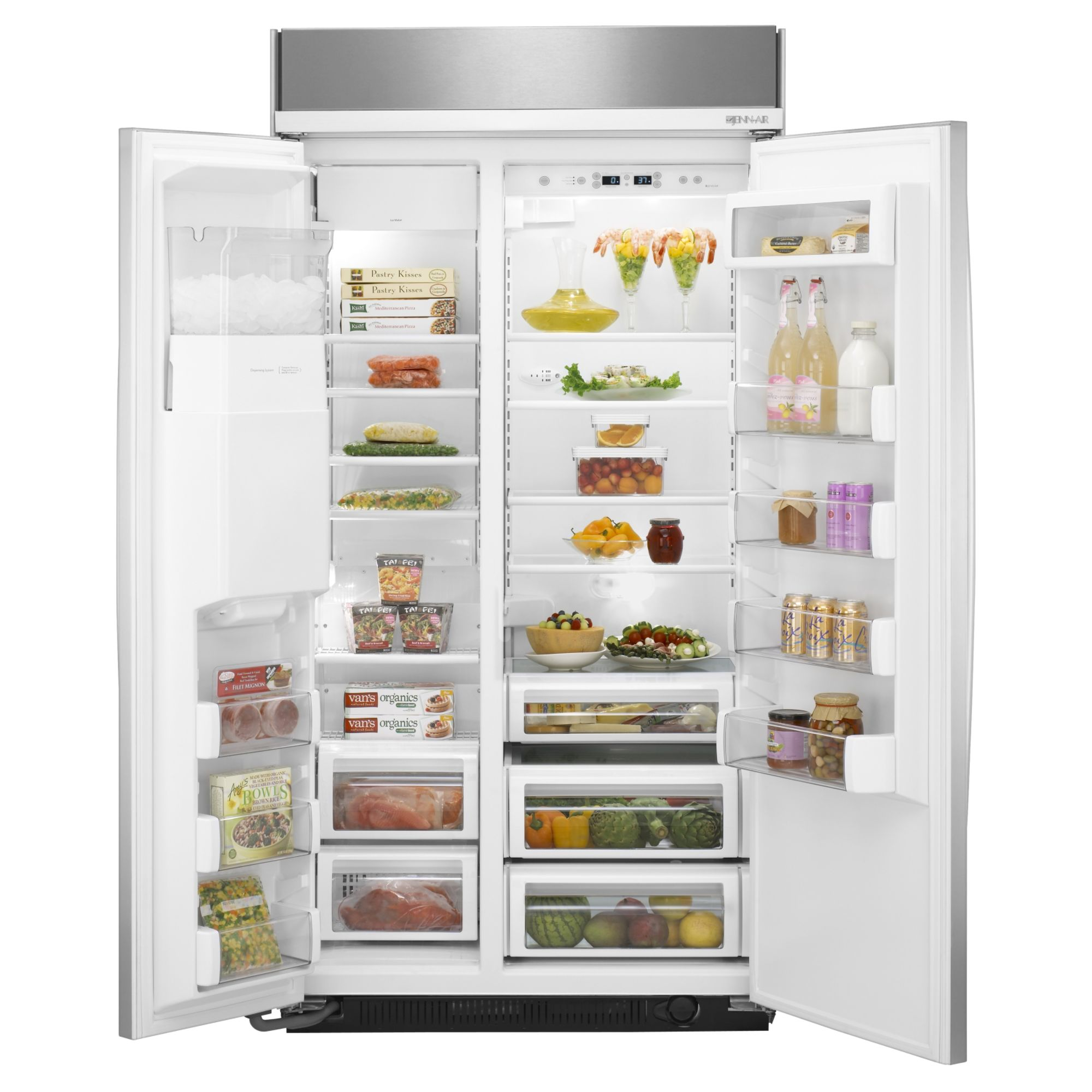 Jenn-Air 29.7 cu. ft. Built-In Side-By-Side Refrigerator w/ Dispenser