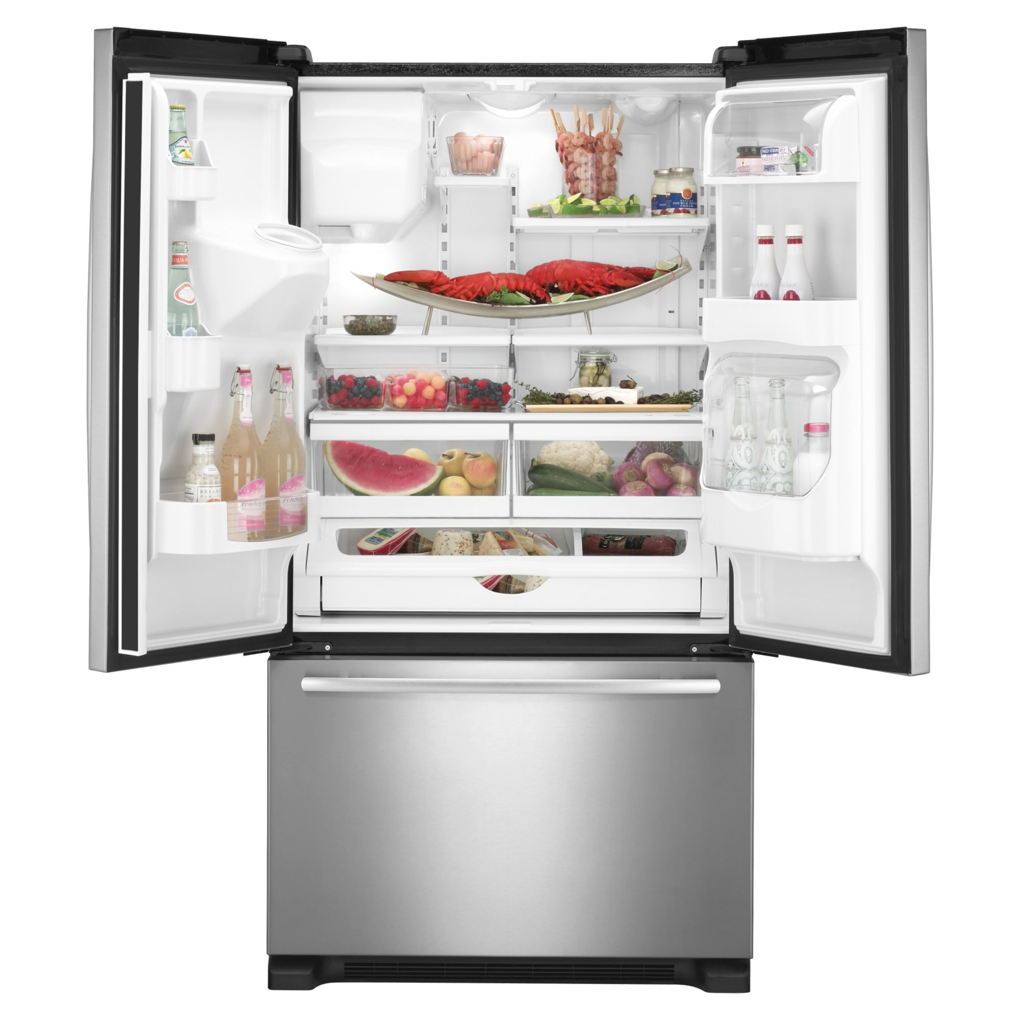 Jenn-Air 19.8 cu. ft. French-Door Bottom Freezer Refrigerator w/ External Dispenser