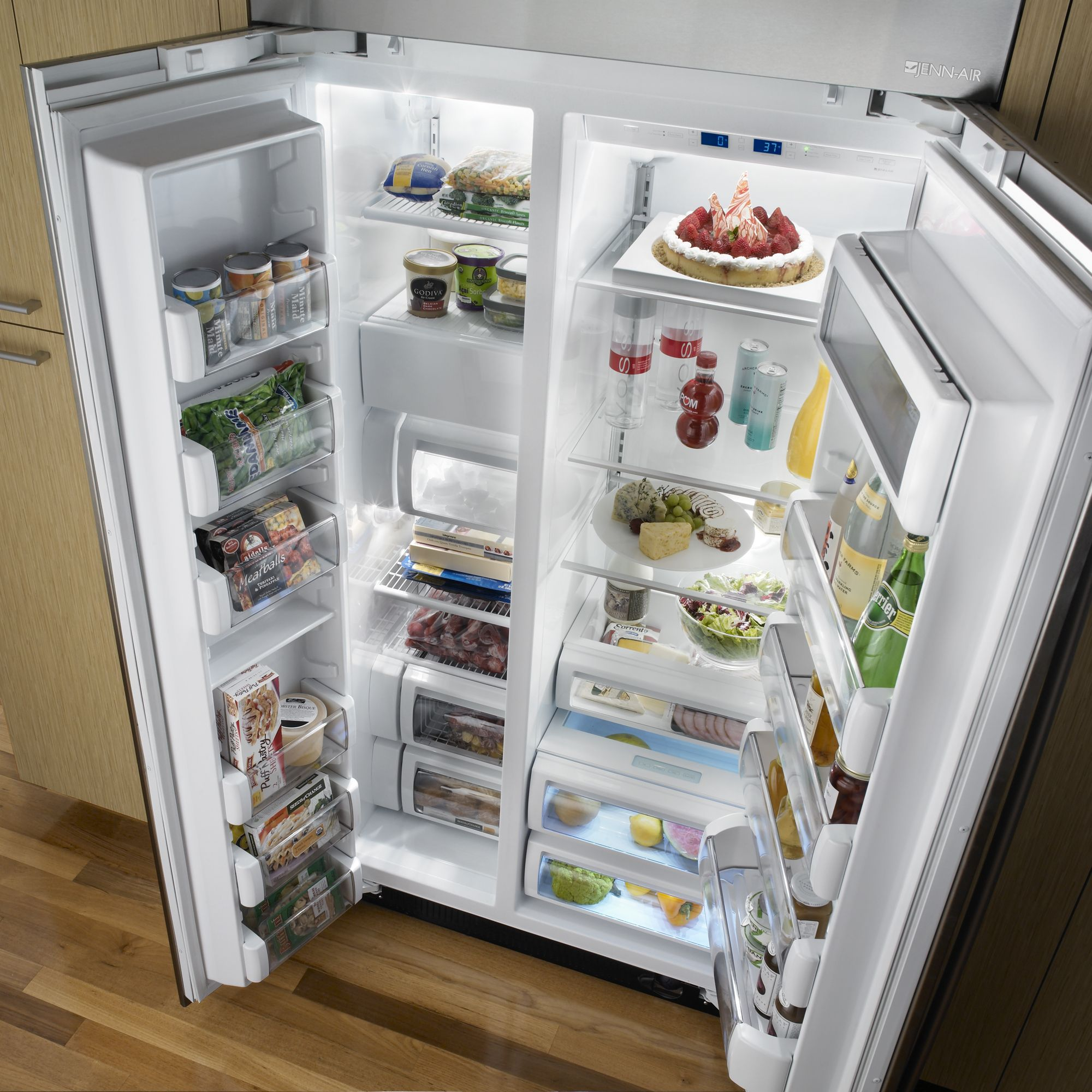 Jenn-Air 24.6 cu. ft. Fully Integrated Built-In Side-By-Side Refrigerator