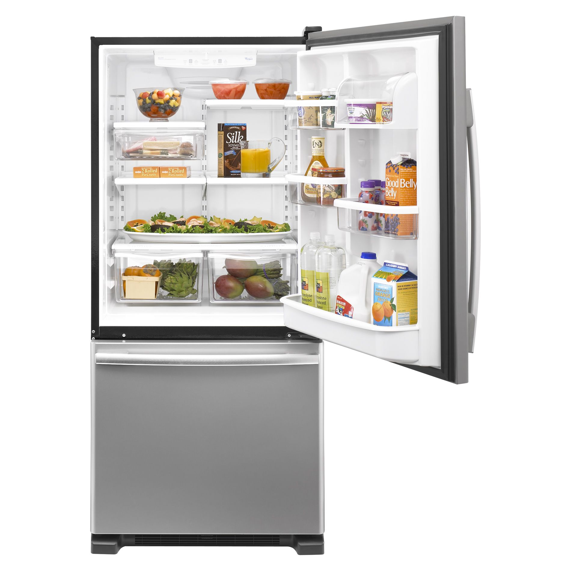 Whirlpool Gold 21.9 cu. ft. Single-Door Bottom-Freezer Refrigerator, Stainless Steel