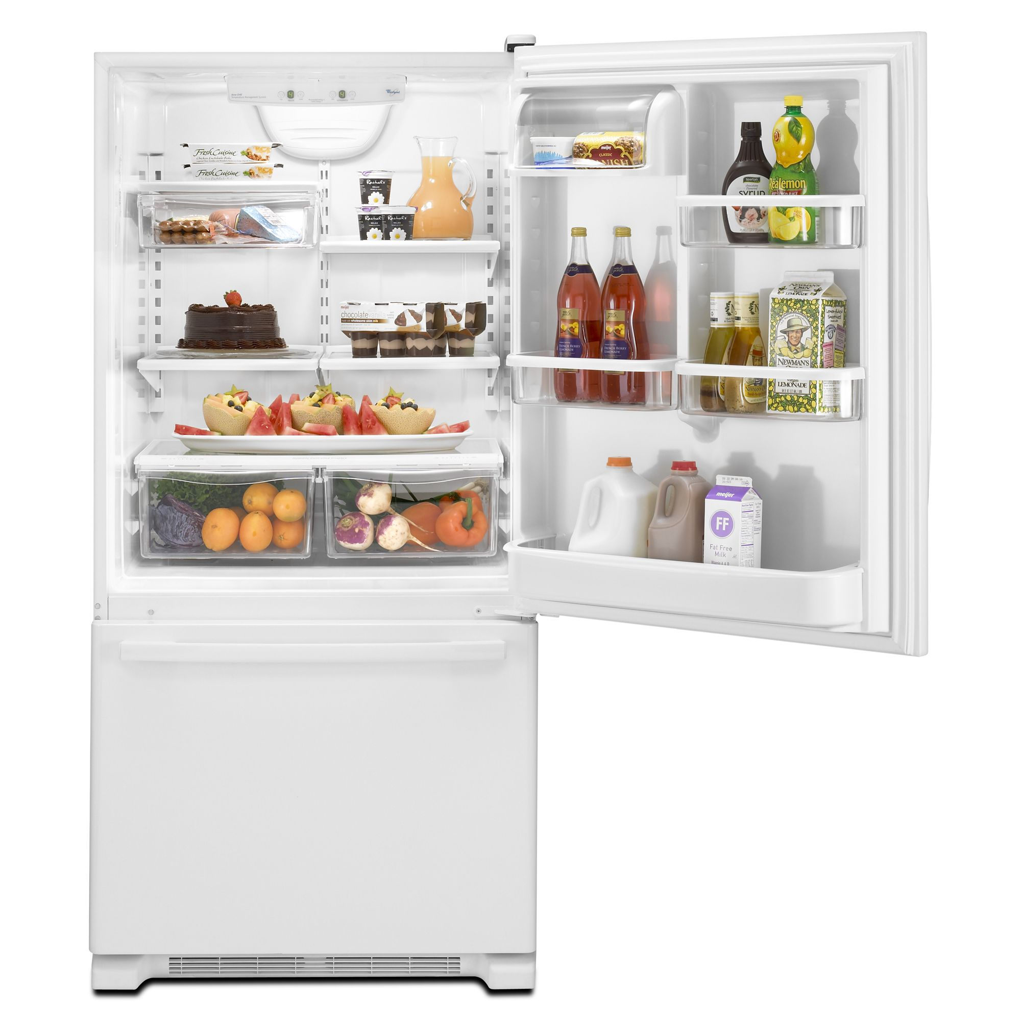 Whirlpool Gold 21.9 cu. ft. Single-Door Bottom-Freezer Refrigerator - White