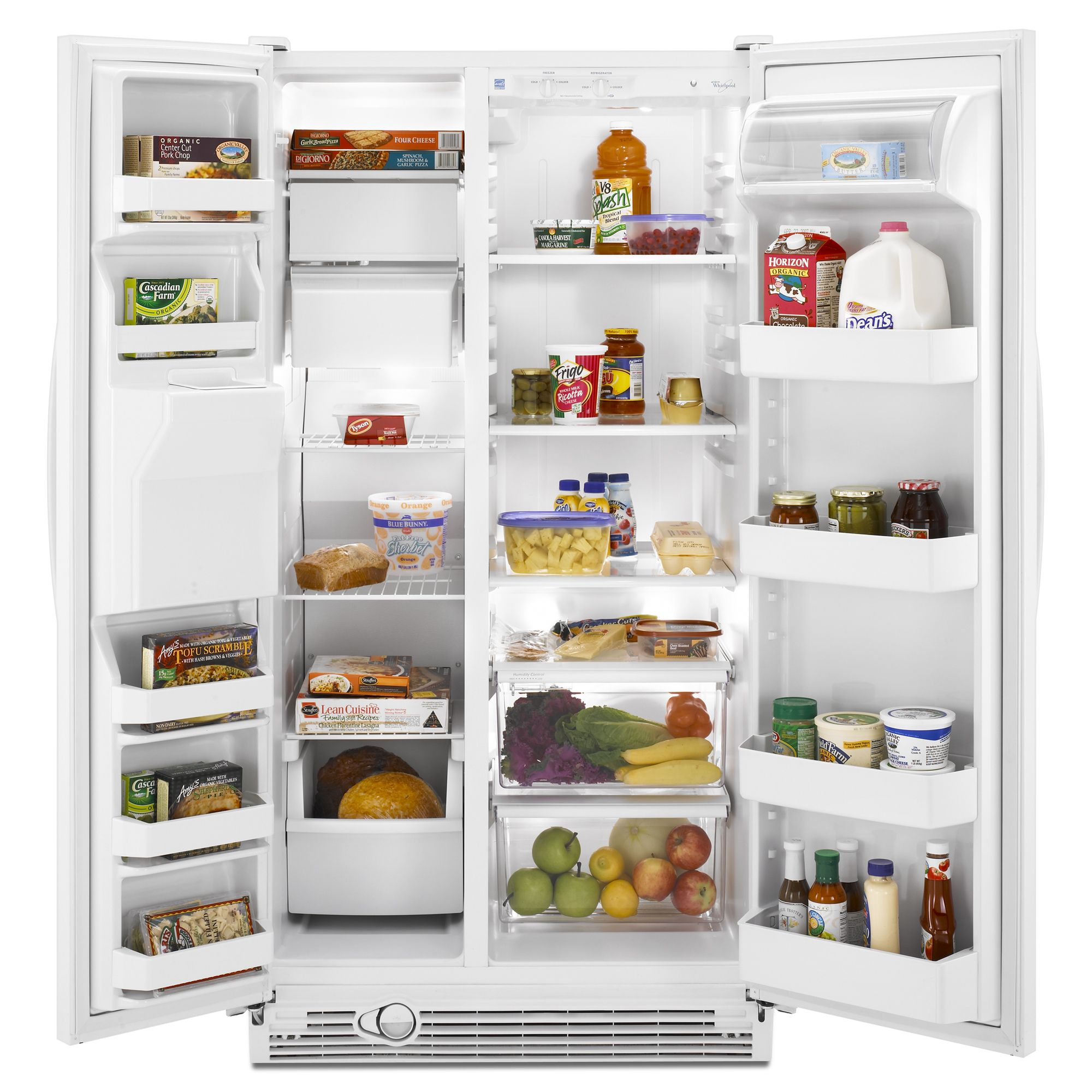 Whirlpool 25.1 cu. ft. Side-By-Side Refrigerator - White