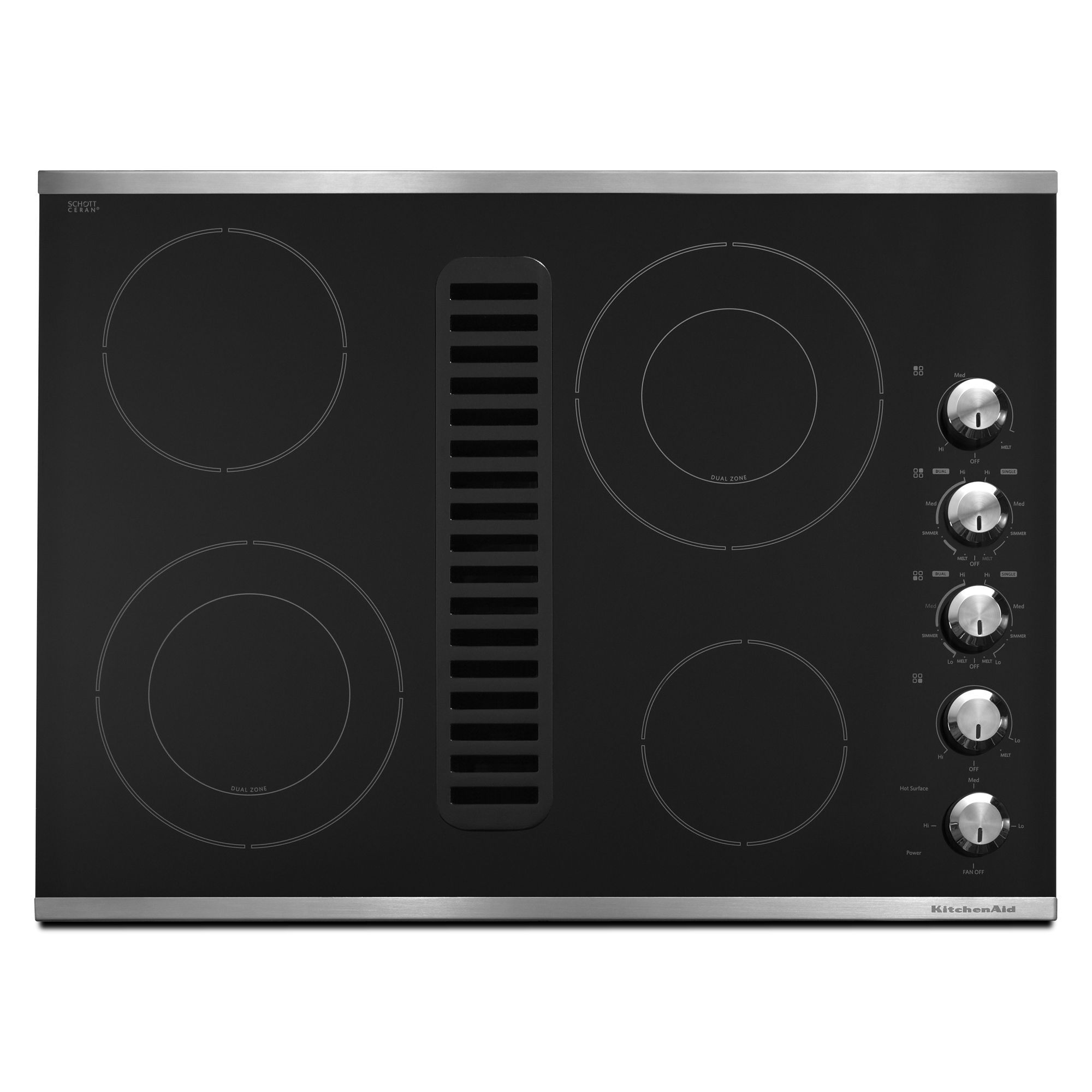 KitchenAid KECD807XSS 30 Electric Downdraft Cooktop