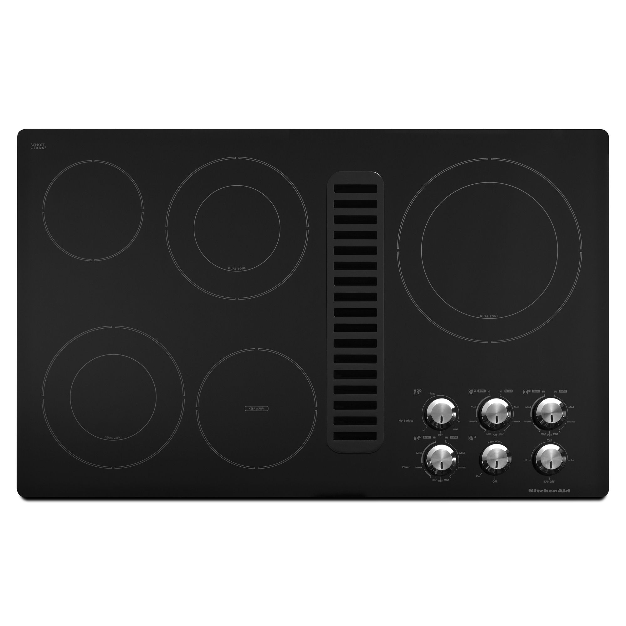 "KitchenAid KECD867XBL 36"" Electric Downdraft Cooktop"