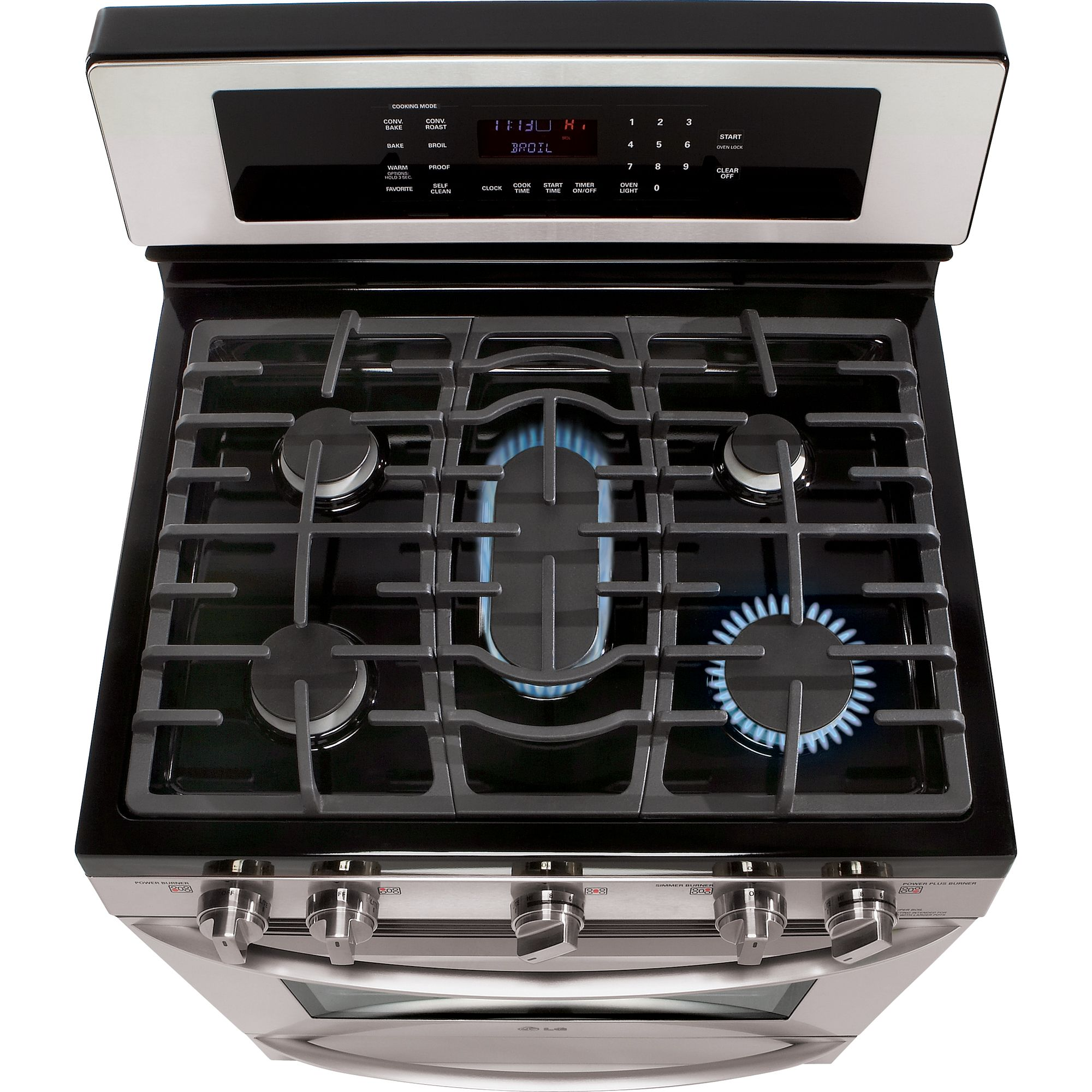 LG 5.4 cu. ft. Freestanding Gas Range-Stainless Steel