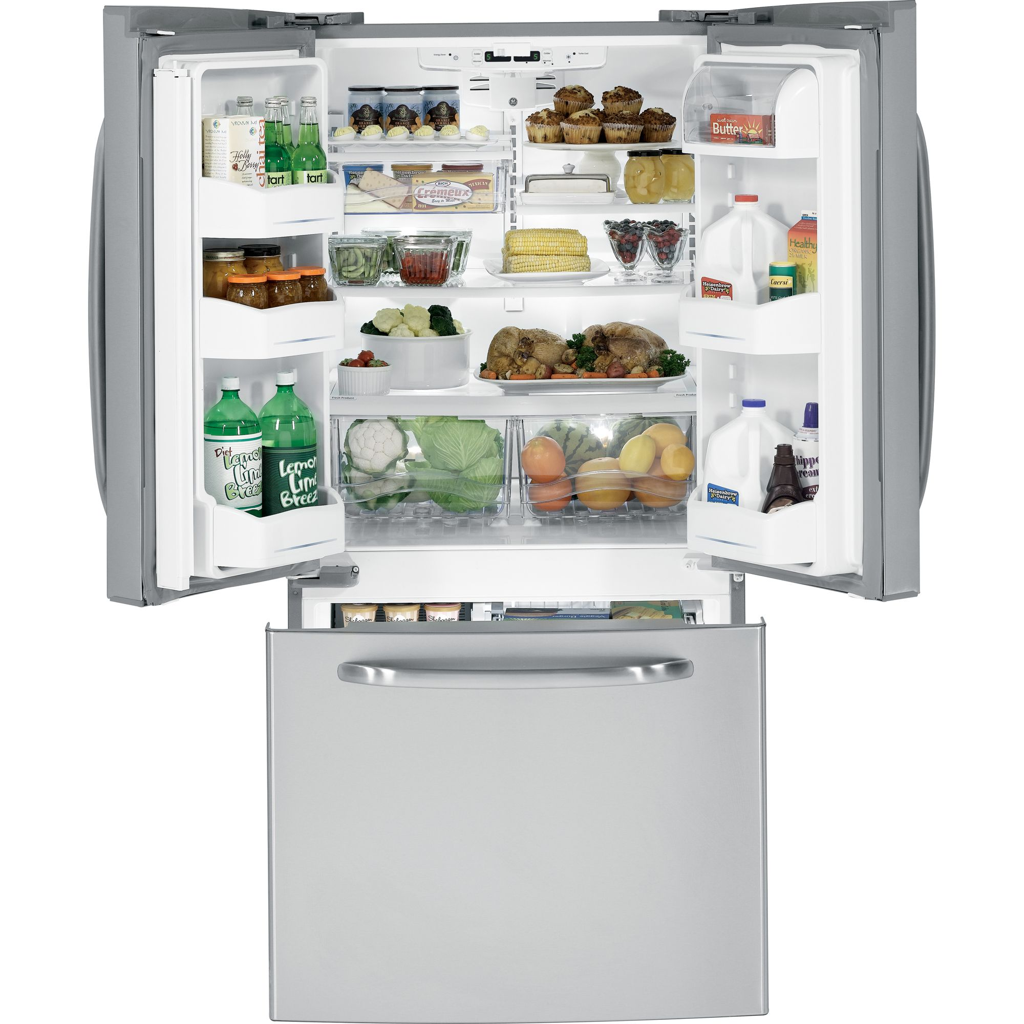 GE 22.0 cu. ft. French-Door Bottom-Freezer Refrigerator