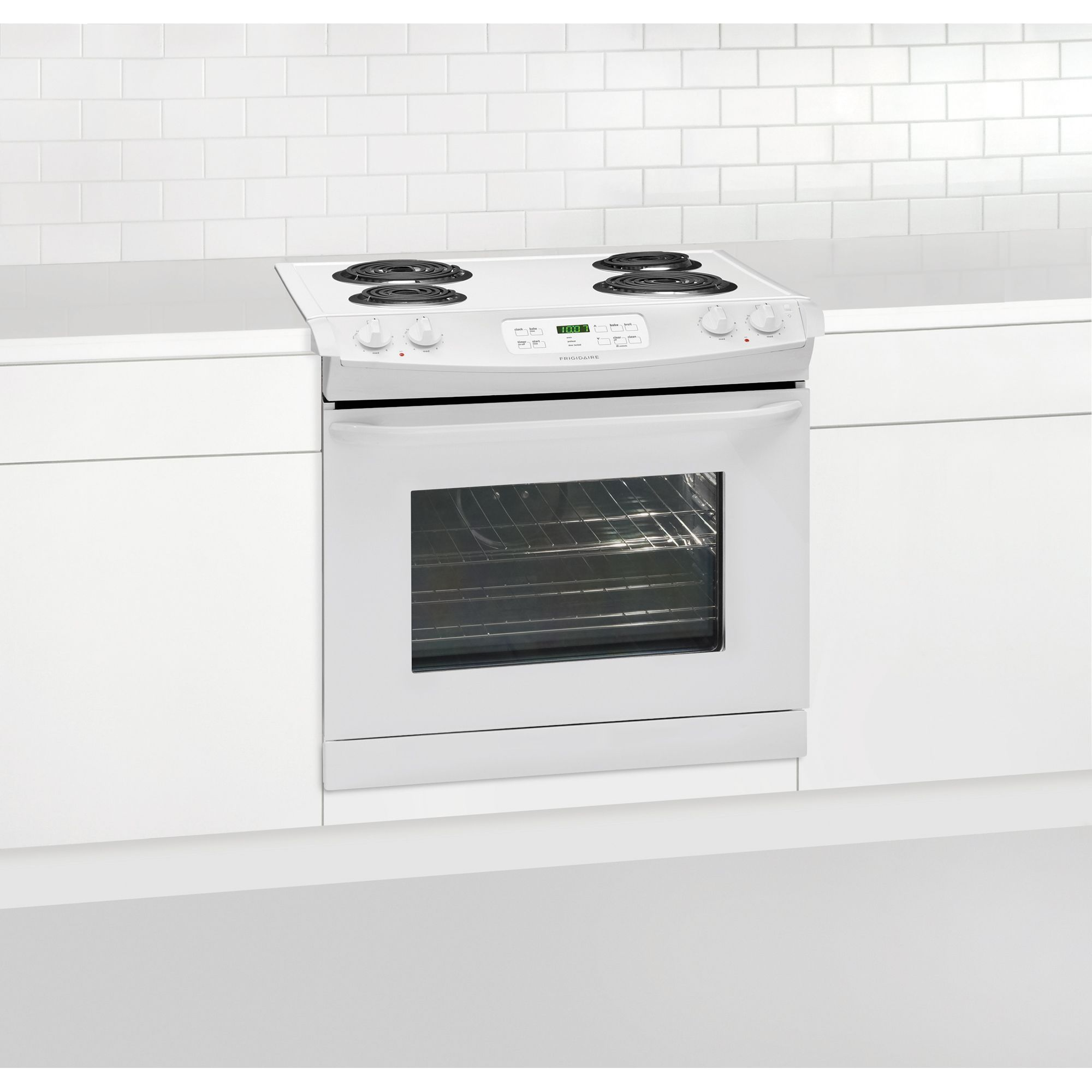 """Frigidaire 30""""  Drop-In Electric Range w/ Coil Cooktop - White"""