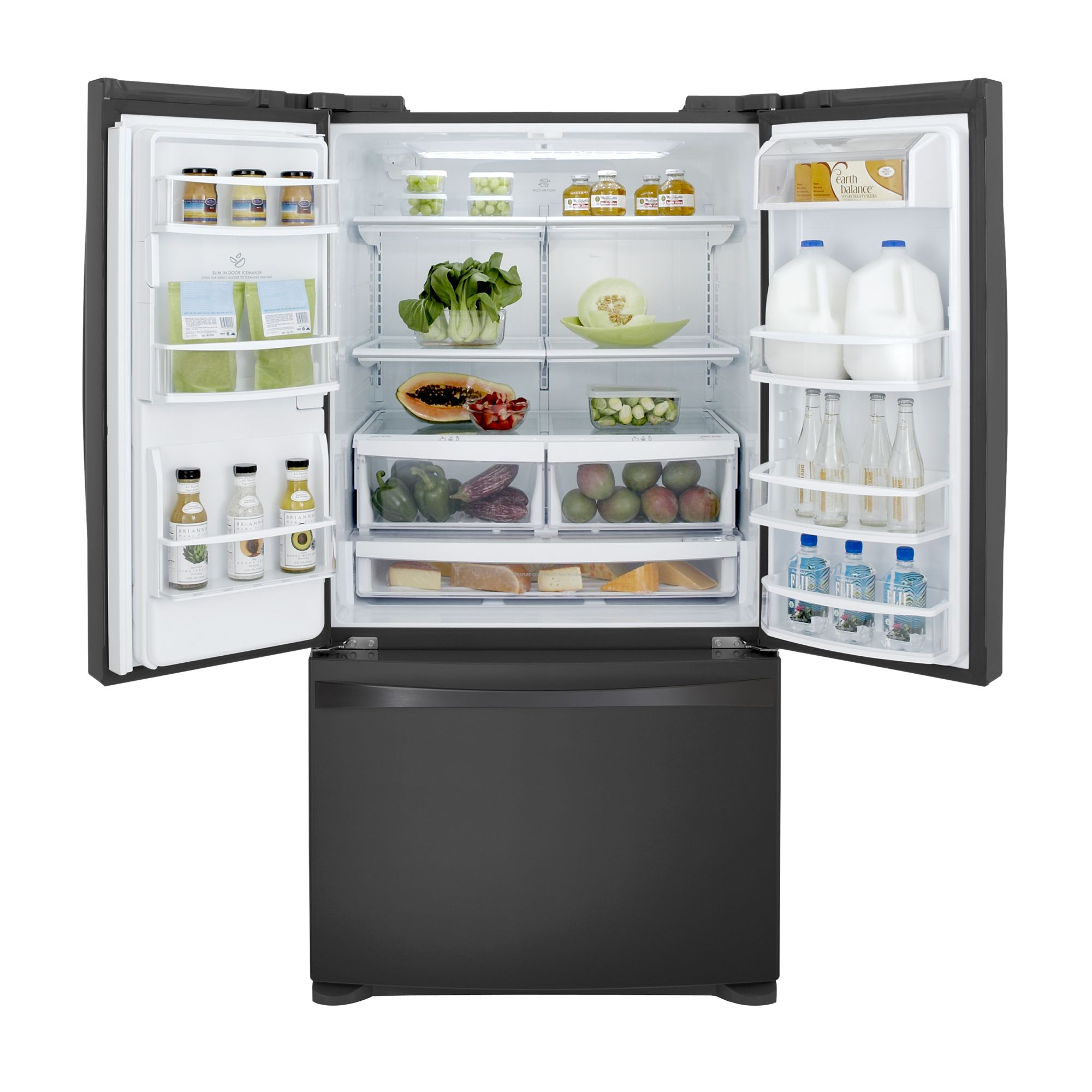 Kenmore Elite 27.6 cu. ft. French Door Bottom-Freezer Refrigerator - Black