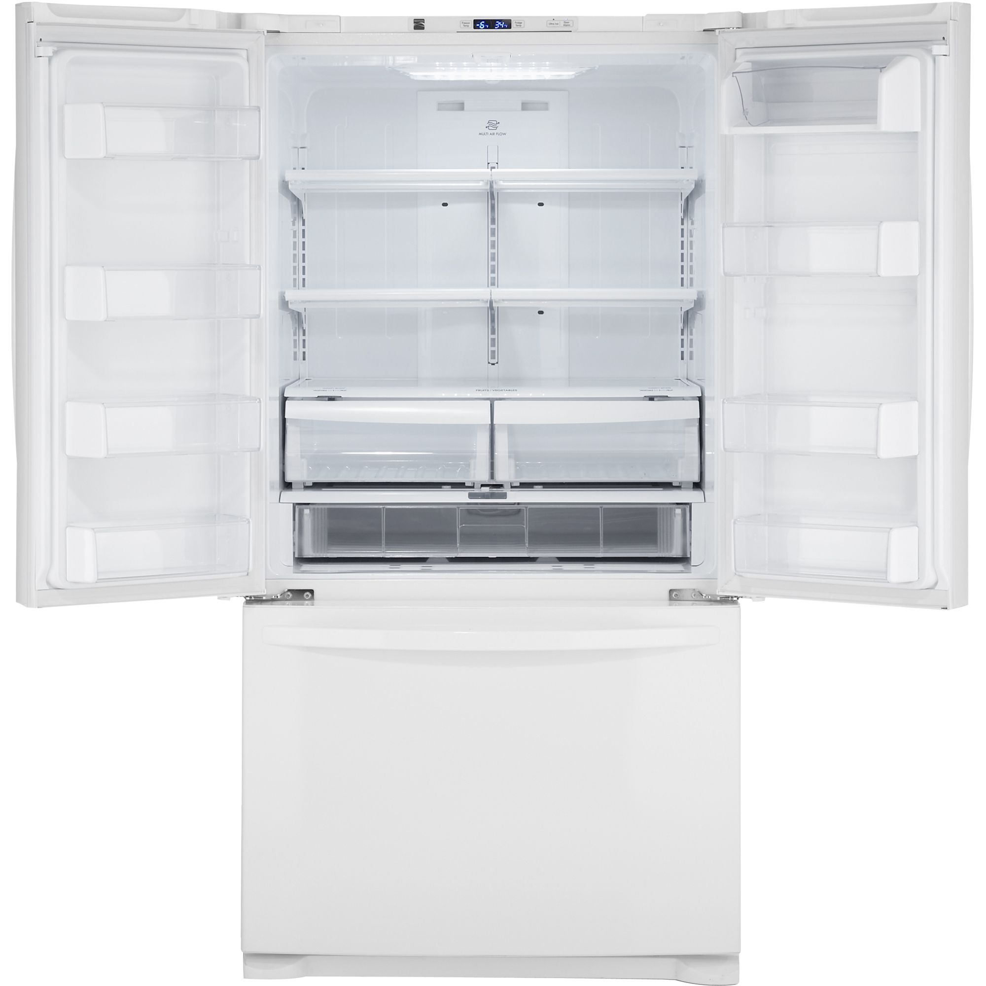Kenmore 25.0 cu. ft. French Door Bottom-Freezer Refrigerator - White