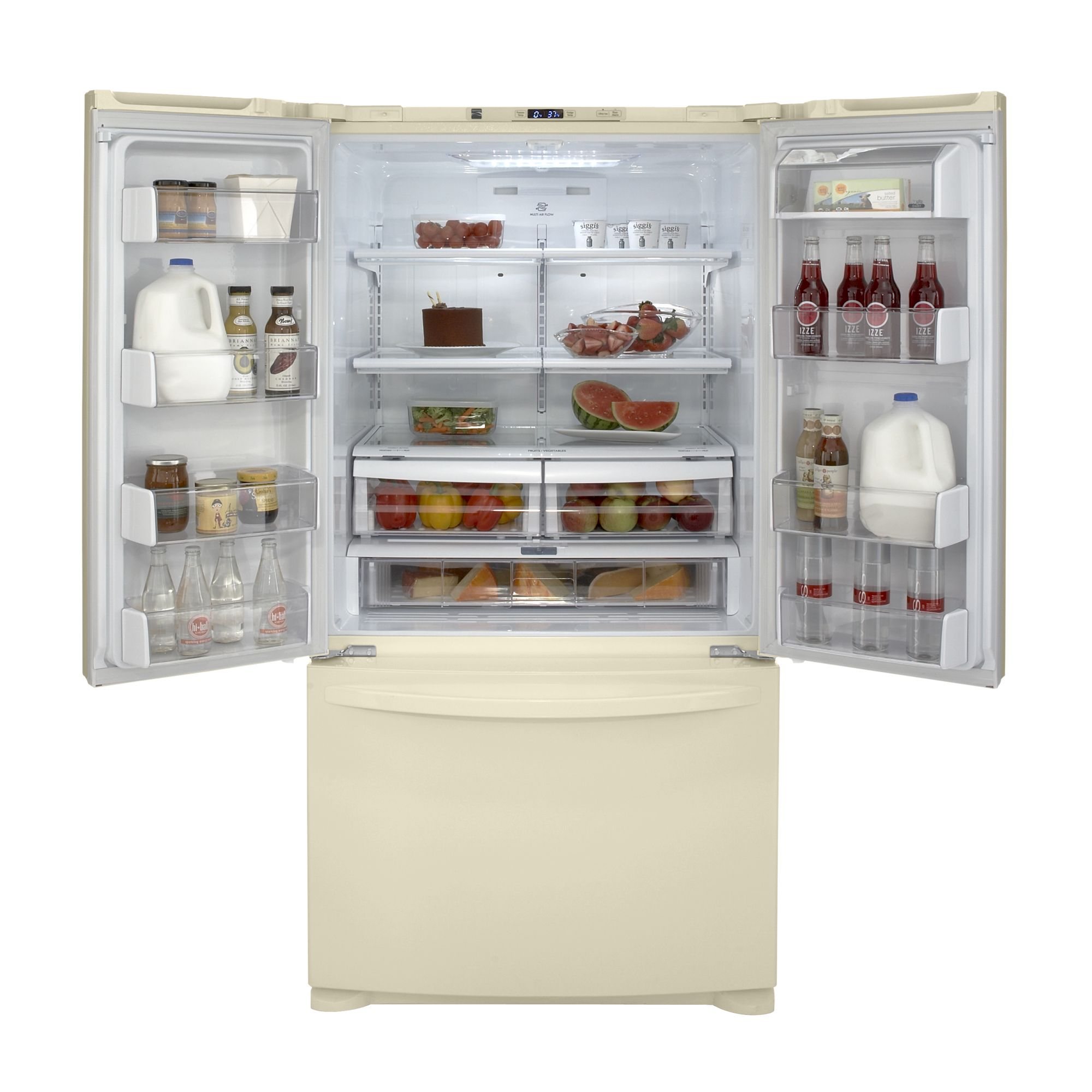 Kenmore 25.0 cu. ft. French Door Bottom-Freezer Refrigerator- Bisque