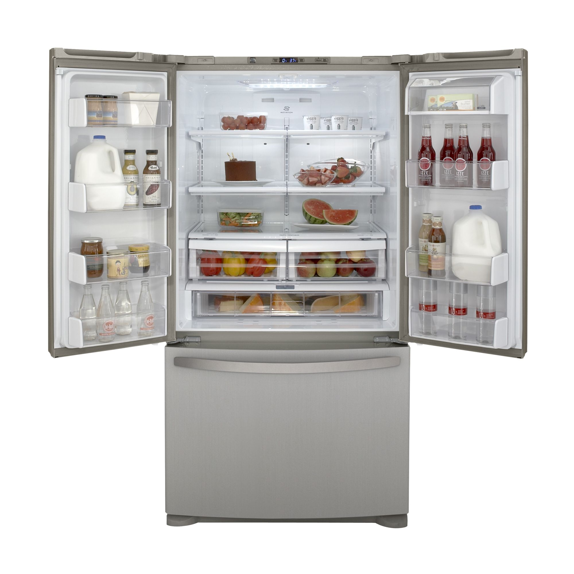 Kenmore 25.0 cu. ft. French Door Bottom-Freezer Refrigerator - Metallic