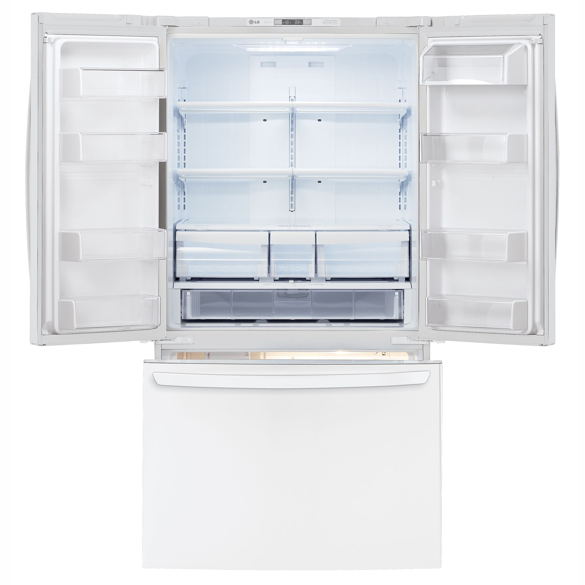 LG 25.0 cu. ft. French-Door Bottom-Freezer Refrigerator (LFC25776SW)