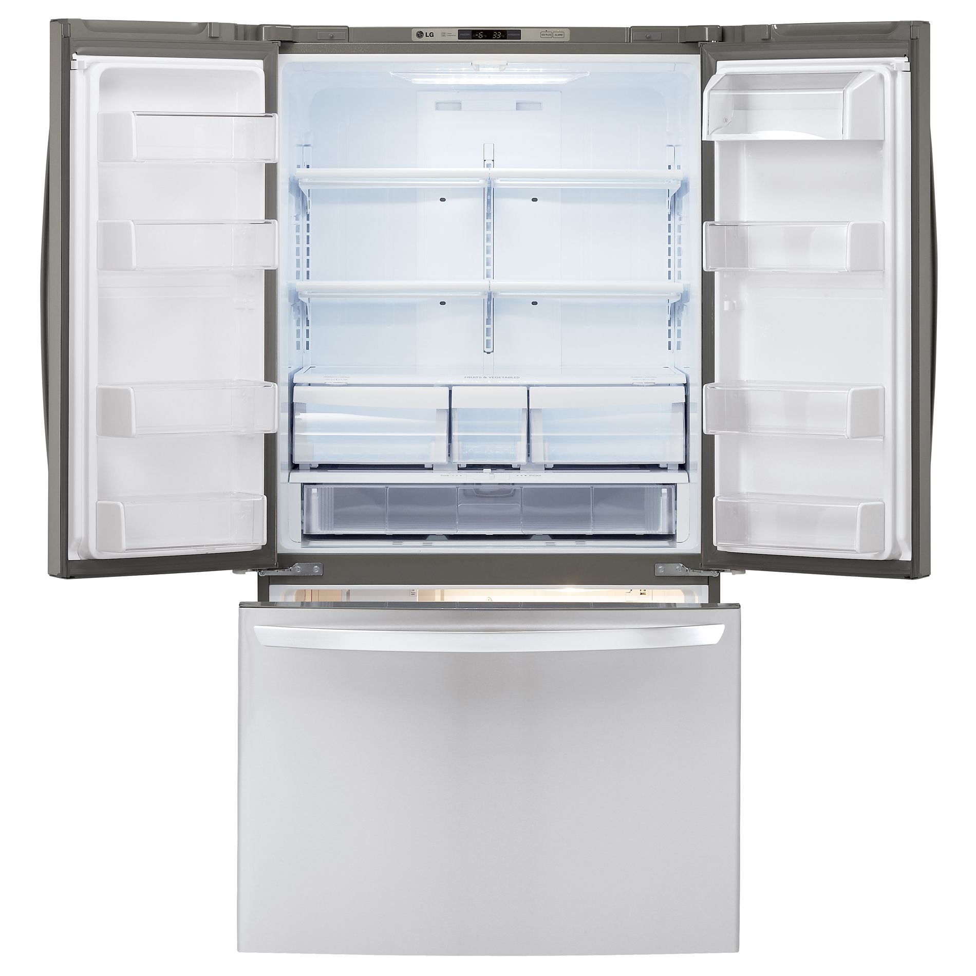 LG 25.0 cu. ft. French-Door Bottom-Freezer Refrigerator (LFC25776ST)