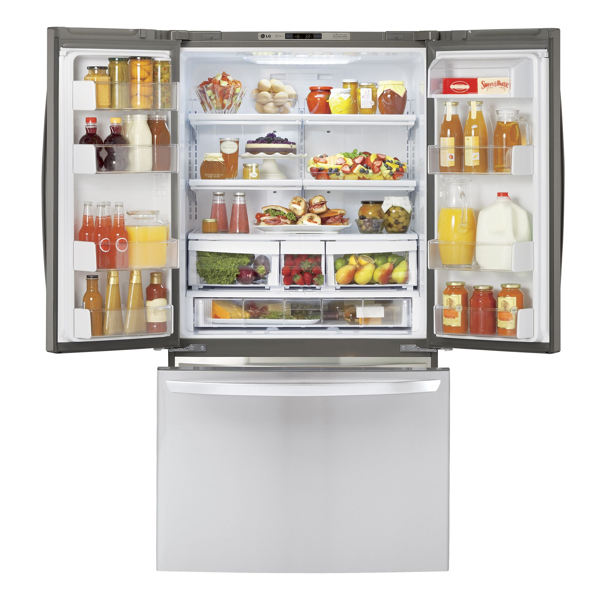 LG LFC21776ST 20.7 cu. ft. Counter-Depth French Door Bottom-Freezer Refrigerator