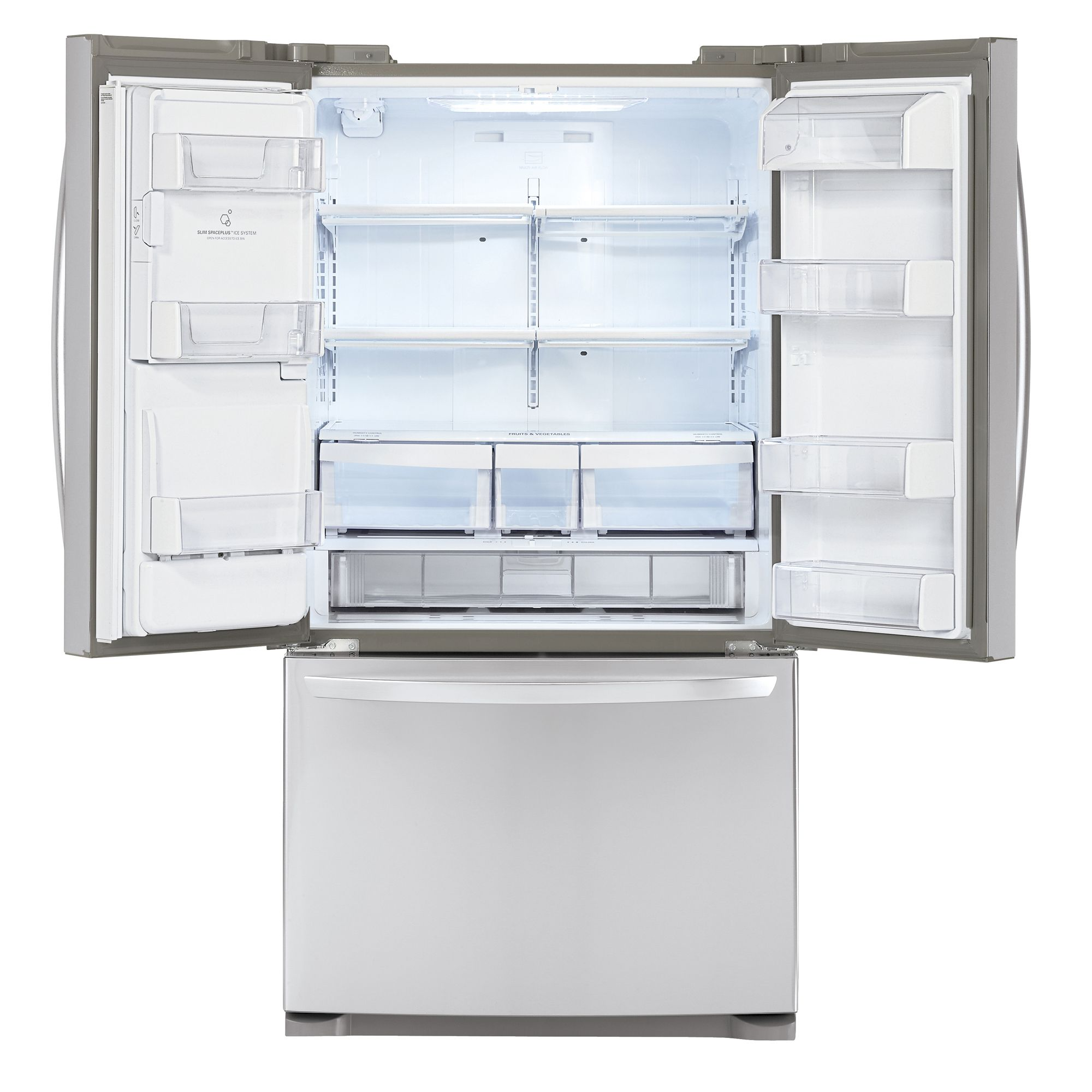 LG 20.5 cu. ft. Counter-Depth French-Door Bottom-Freezer Refrigerator