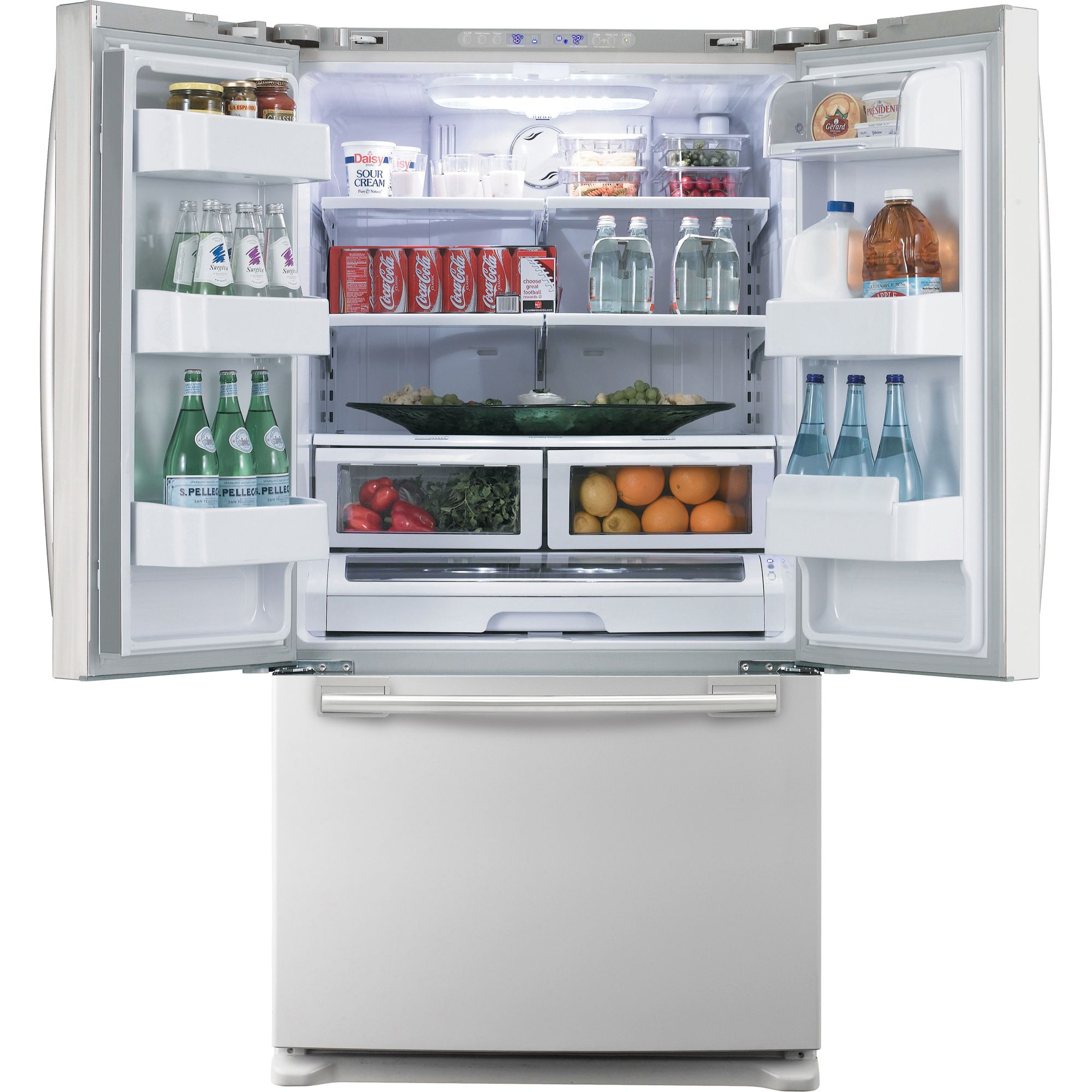 Samsung 26.0 cu. ft. Bottom-Freezer Refrigerator, White