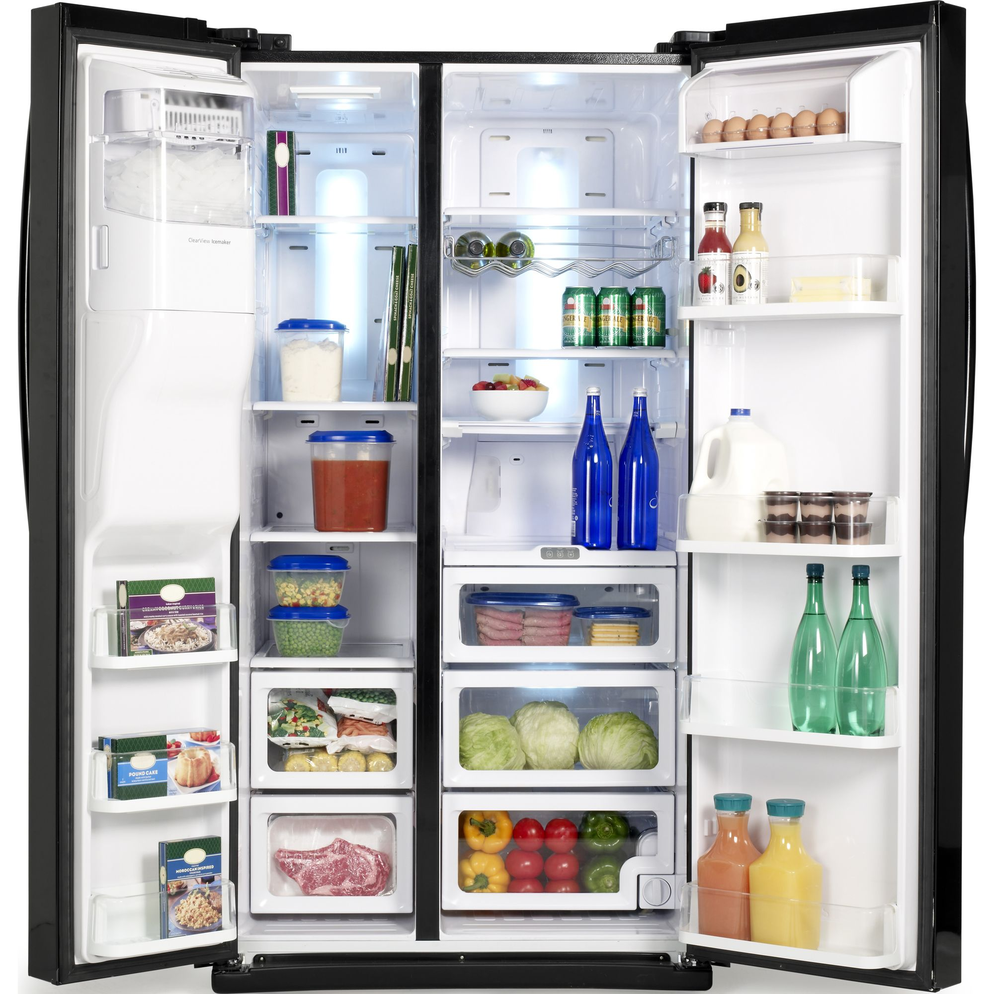 Samsung 25.5 cu. ft. Side-by-Side Refrigerator-Black