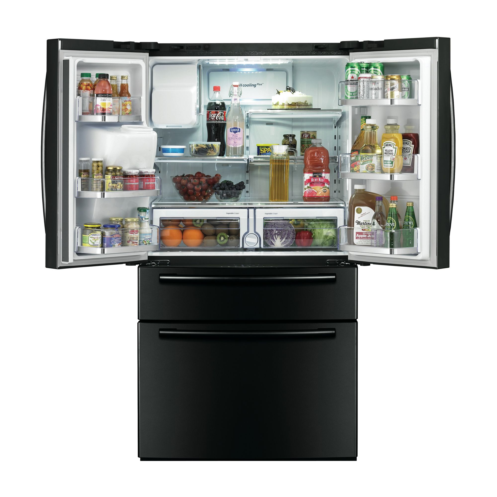 Samsung 28 cu. ft. French-Door Refrigerator w/ Counter-Height Drawer - Black
