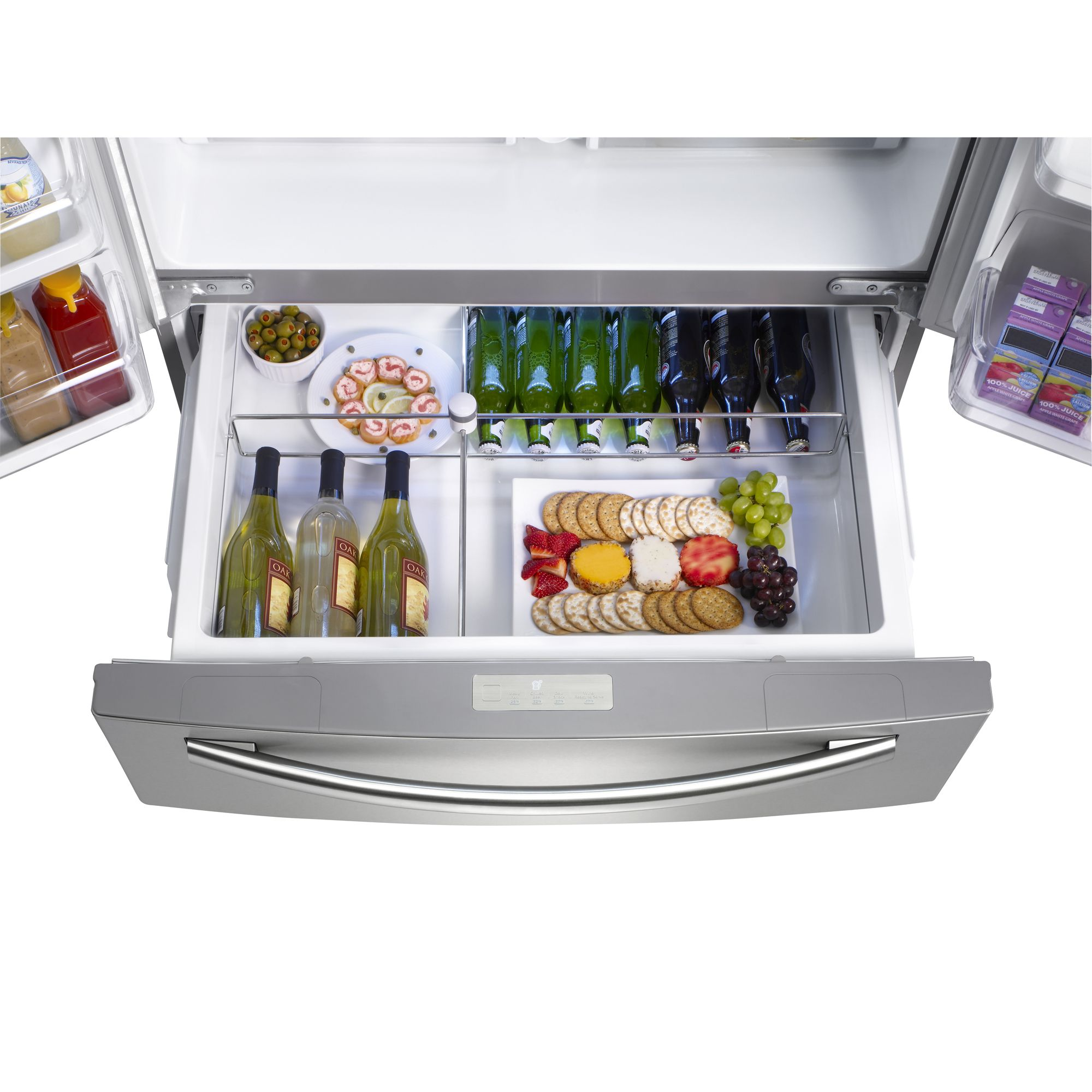 Samsung 28 cu. ft. French-Door Refrigerator w/ Counter-Height Drawer - Stainless Steel