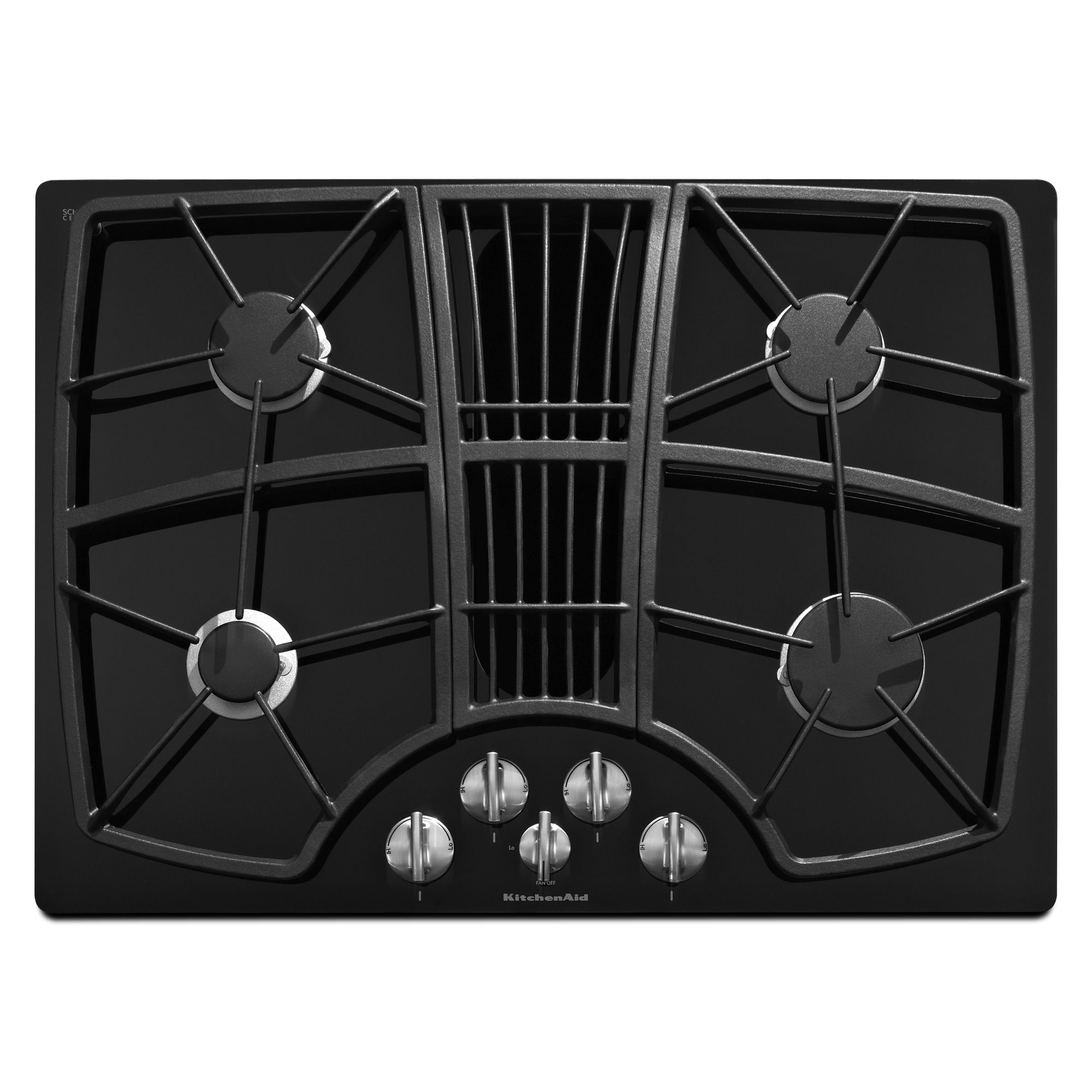 KitchenAid KGCD807XBL 30 4-Burner Downdraft Cooktop