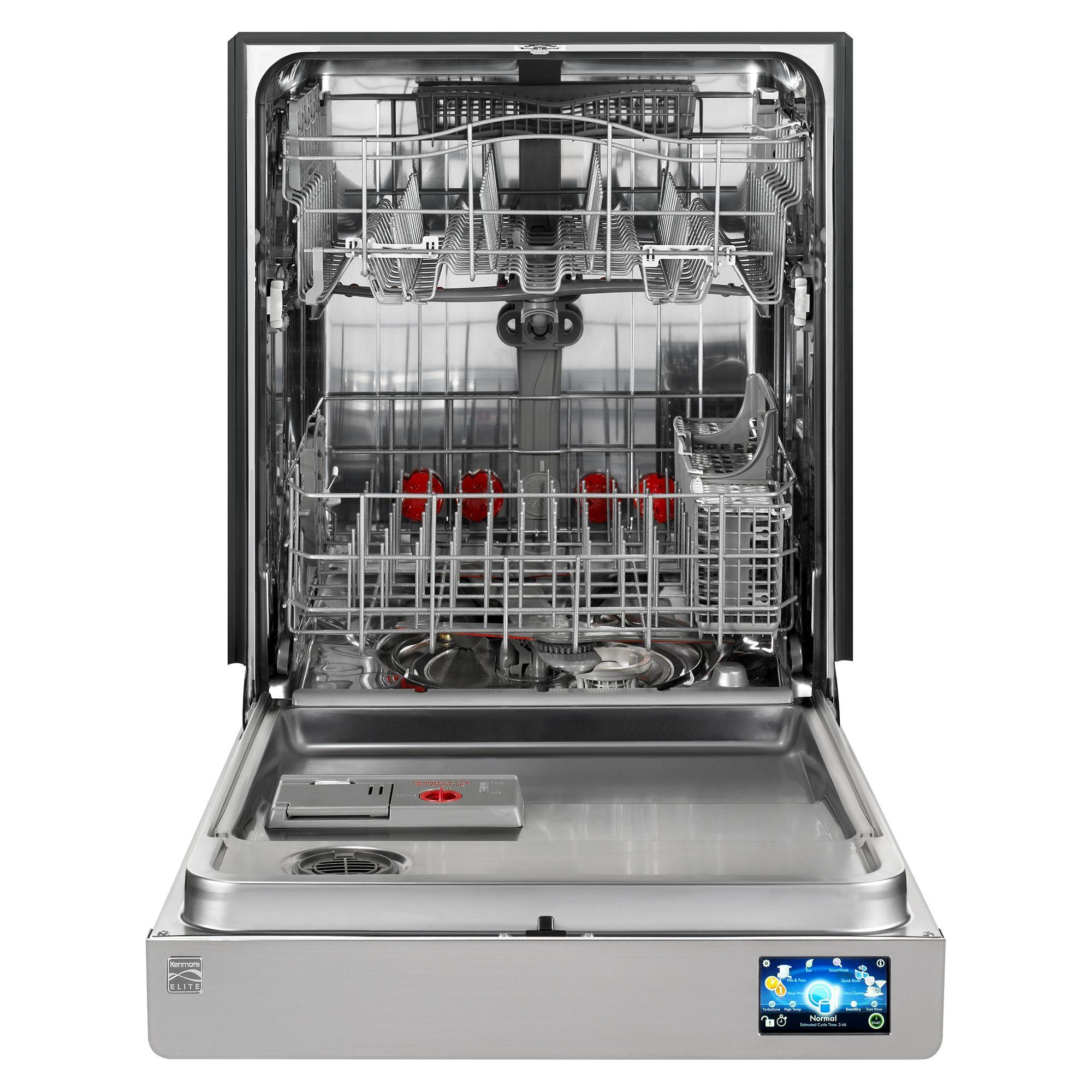"Kenmore Elite 24"" Built-In Dishwasher,  Stainless Steel"