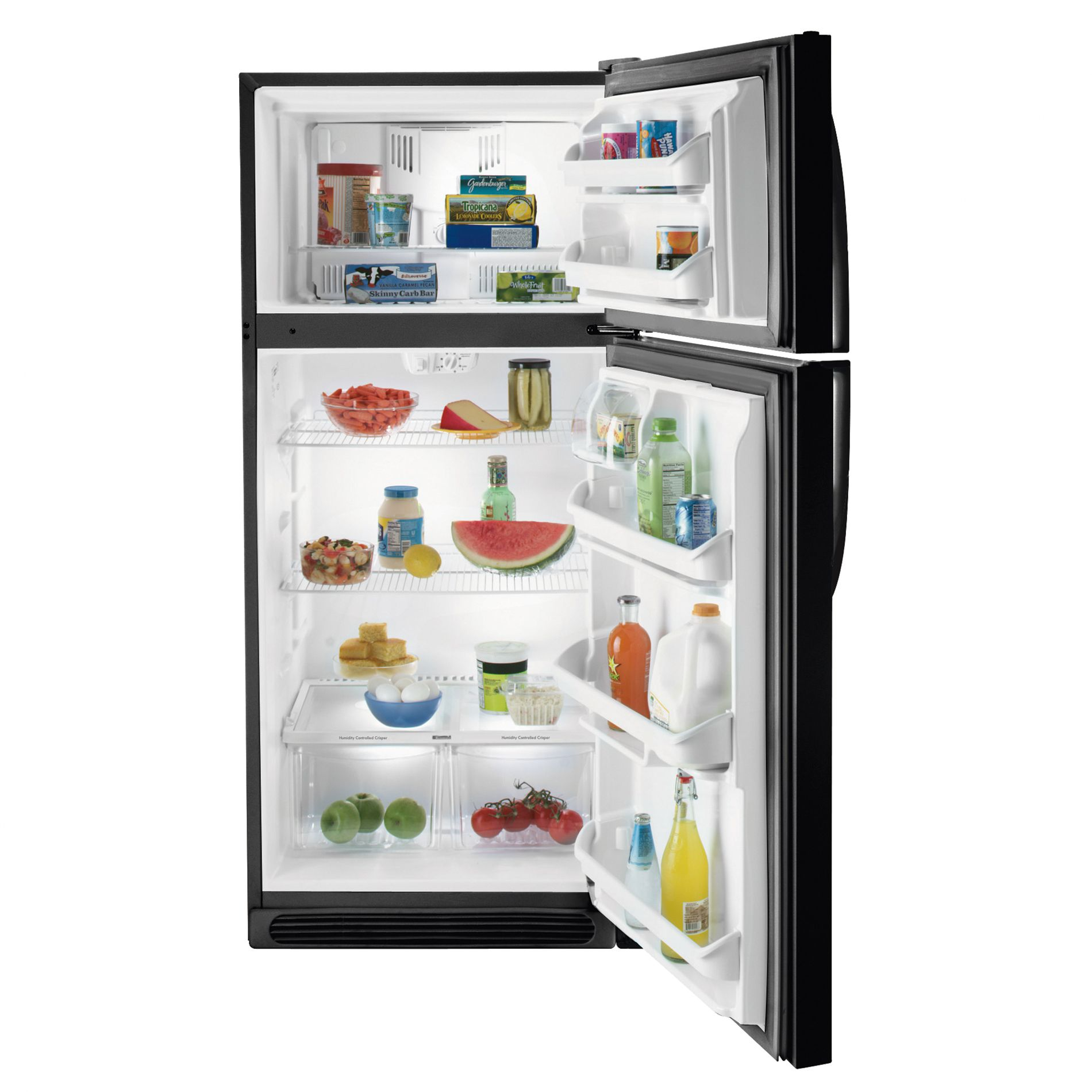 Kenmore 18.2 cu. ft. Top-Freezer Refrigerator w/ Wire Shelves - Black