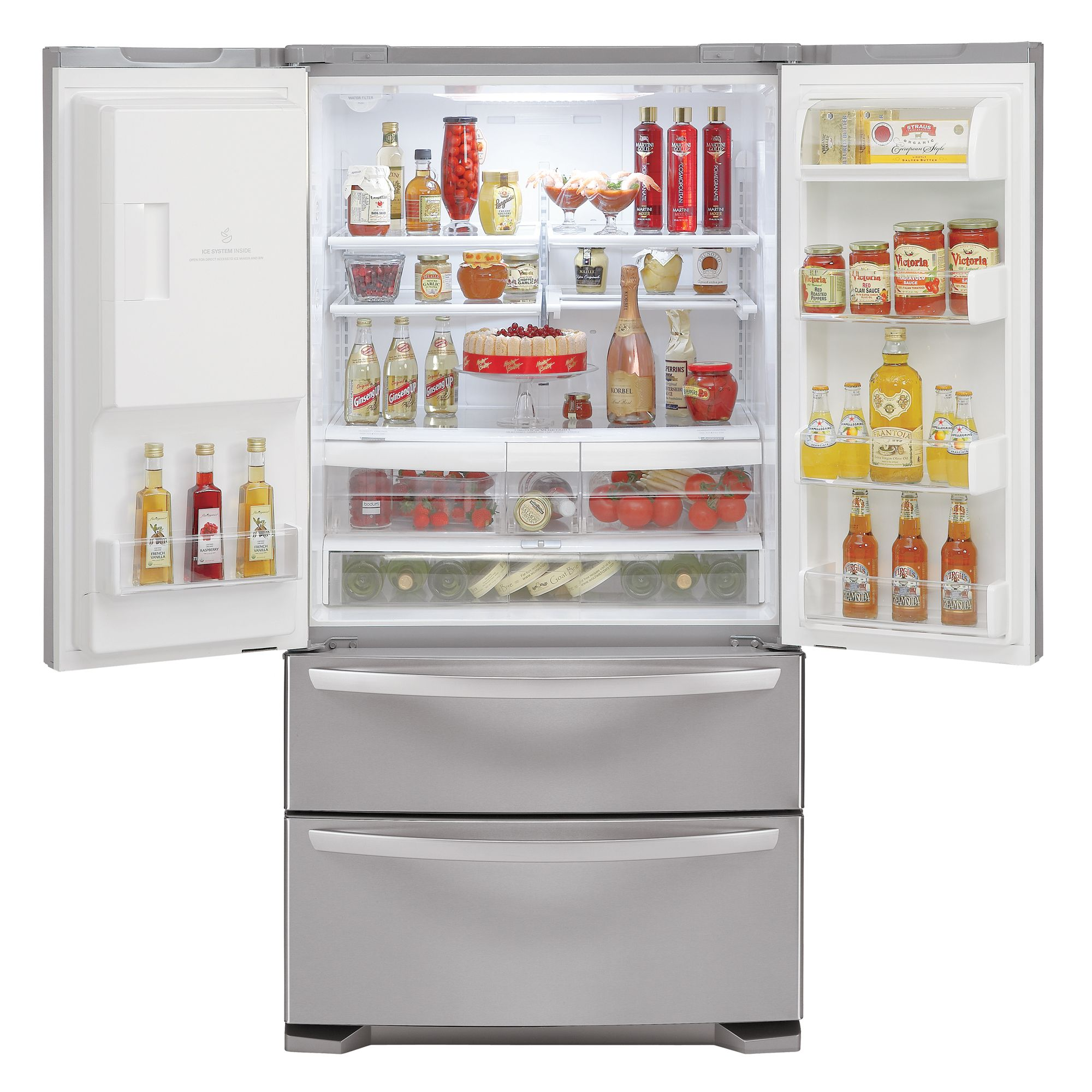 LG 24.7 cu. ft. French-Door Bottom-Freezer Refrigerator (LMX25984ST)